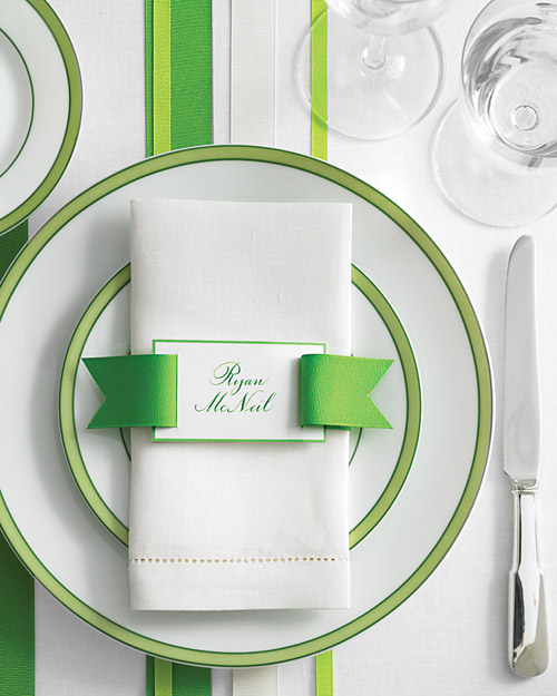 Ribbon Belt Place Cards