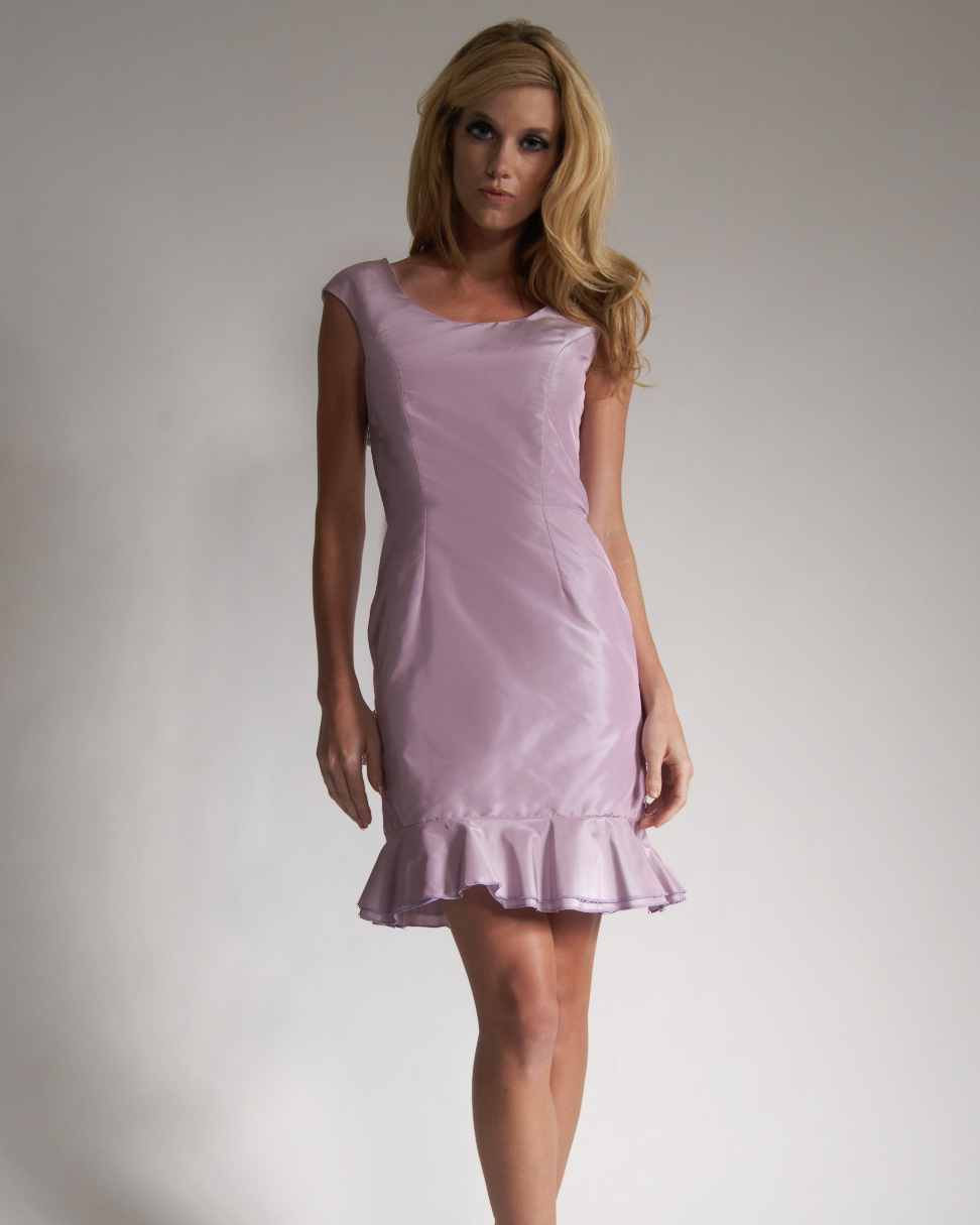 Short Pink Bridesmaid Dress