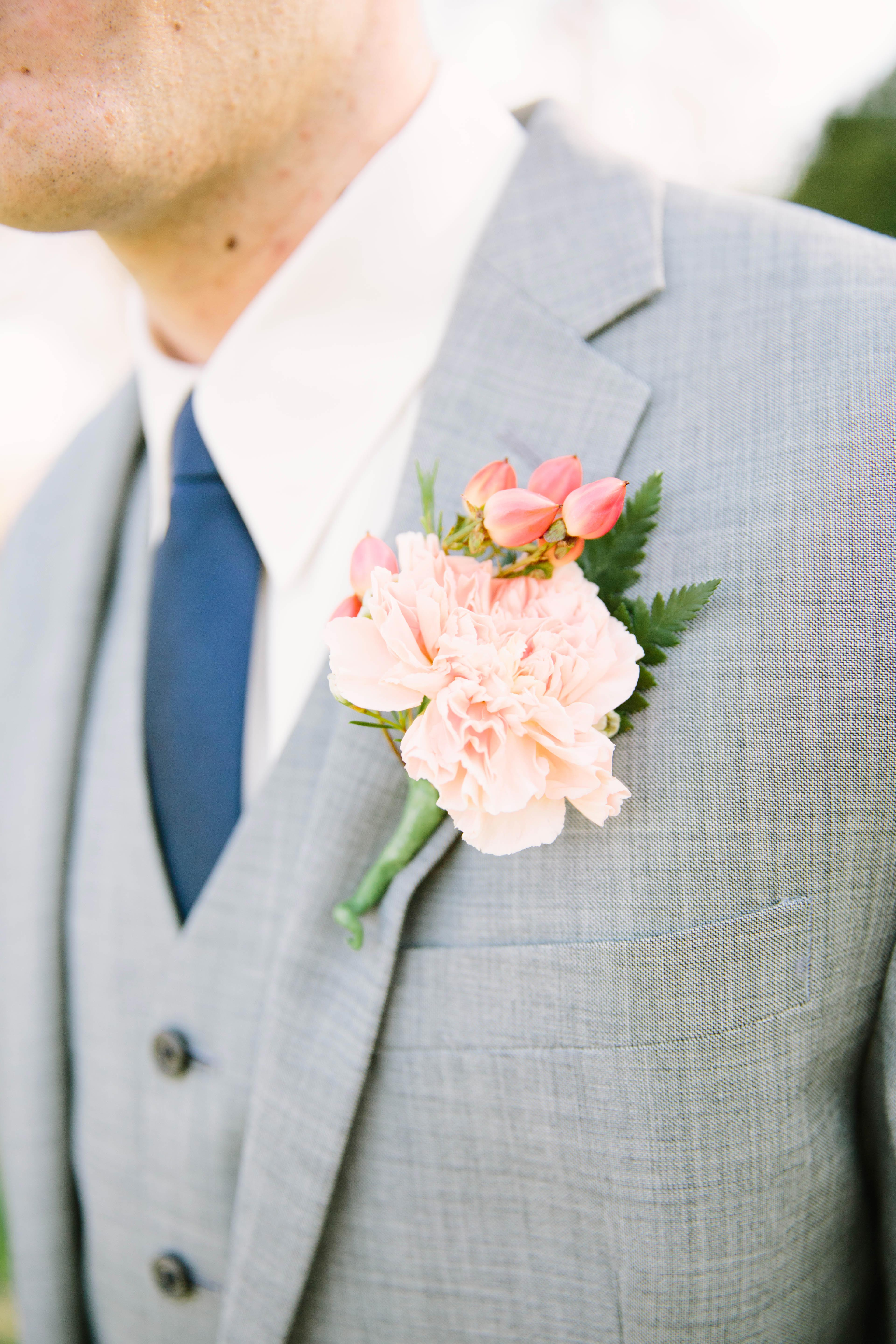 Carnation Boutonnière for the Groom