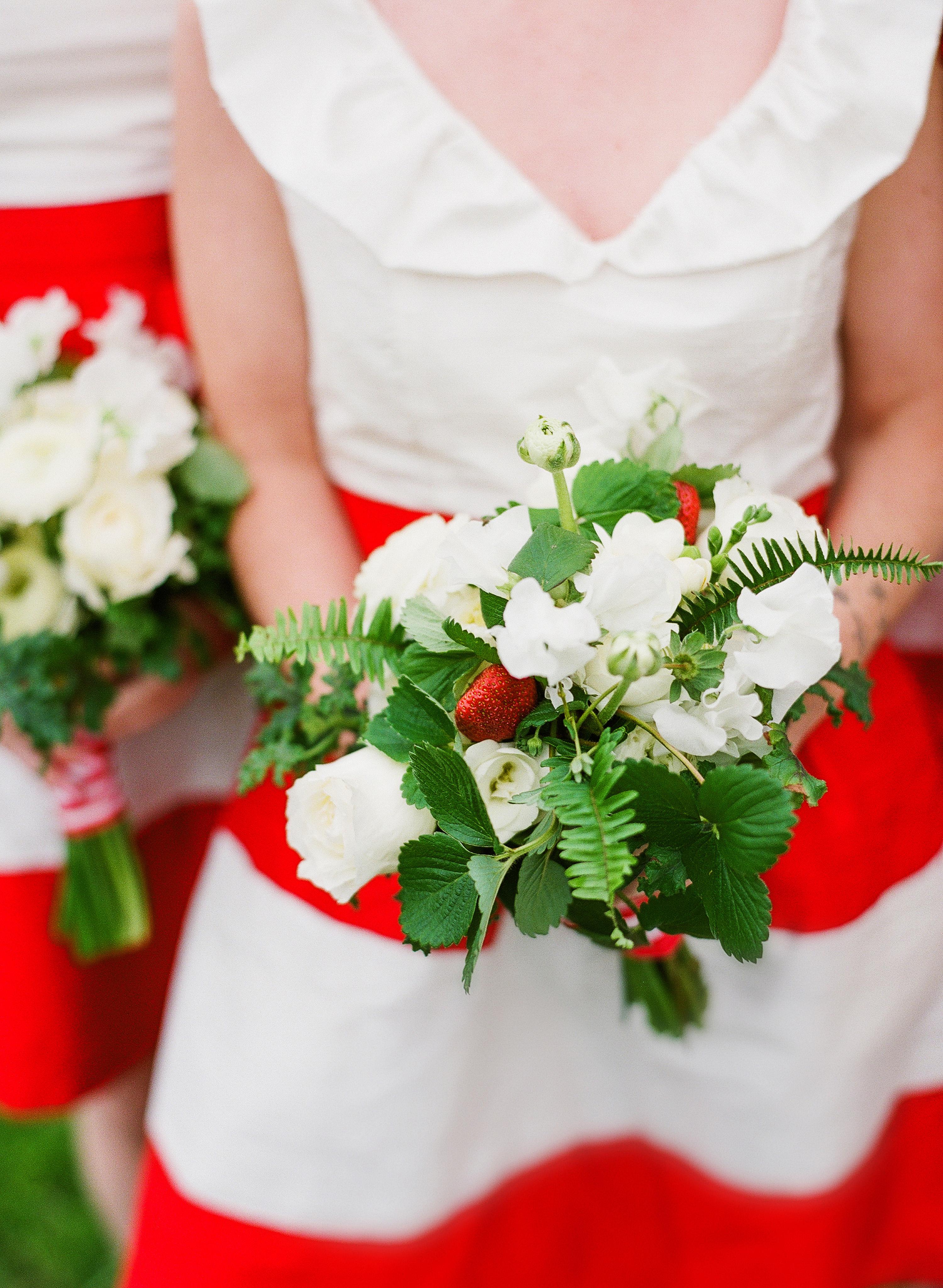 berry wedding ideas strawberry bouquet
