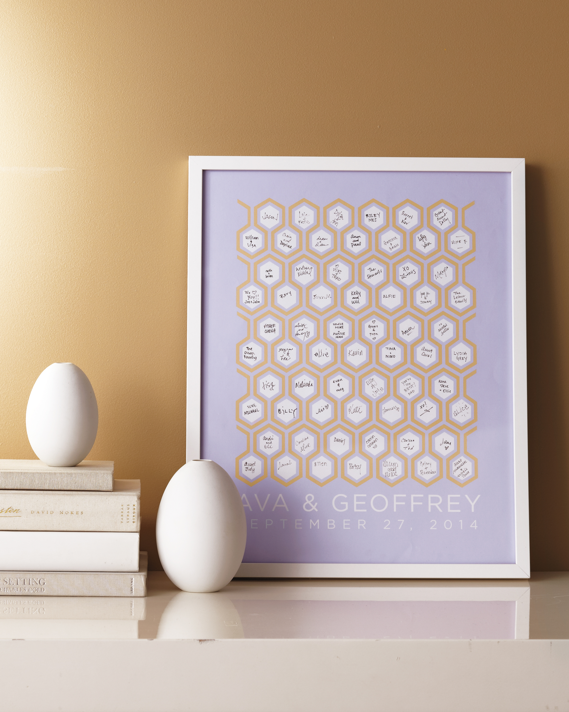 Honeycomb Guest-Book Poster