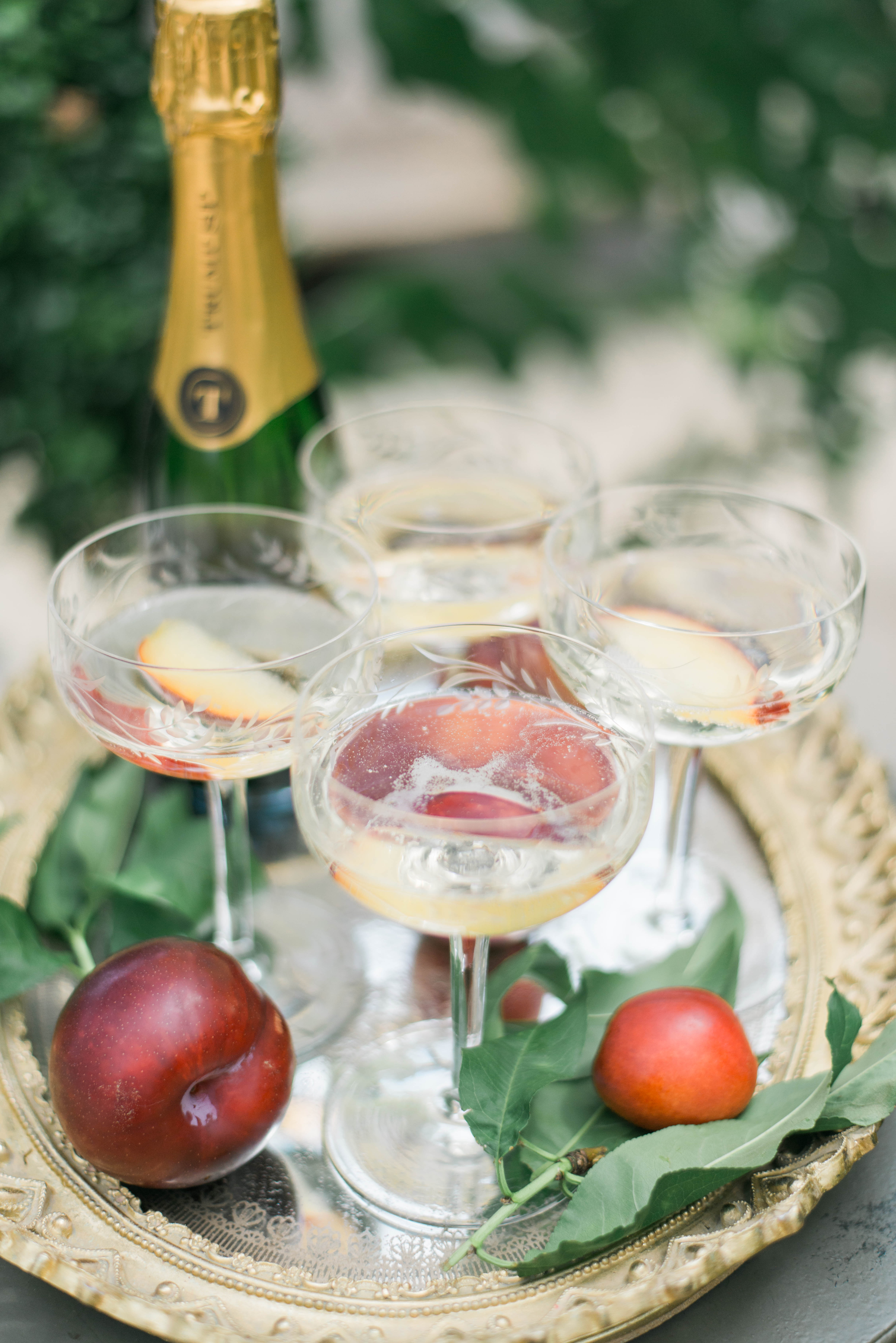 plum-infused champagne