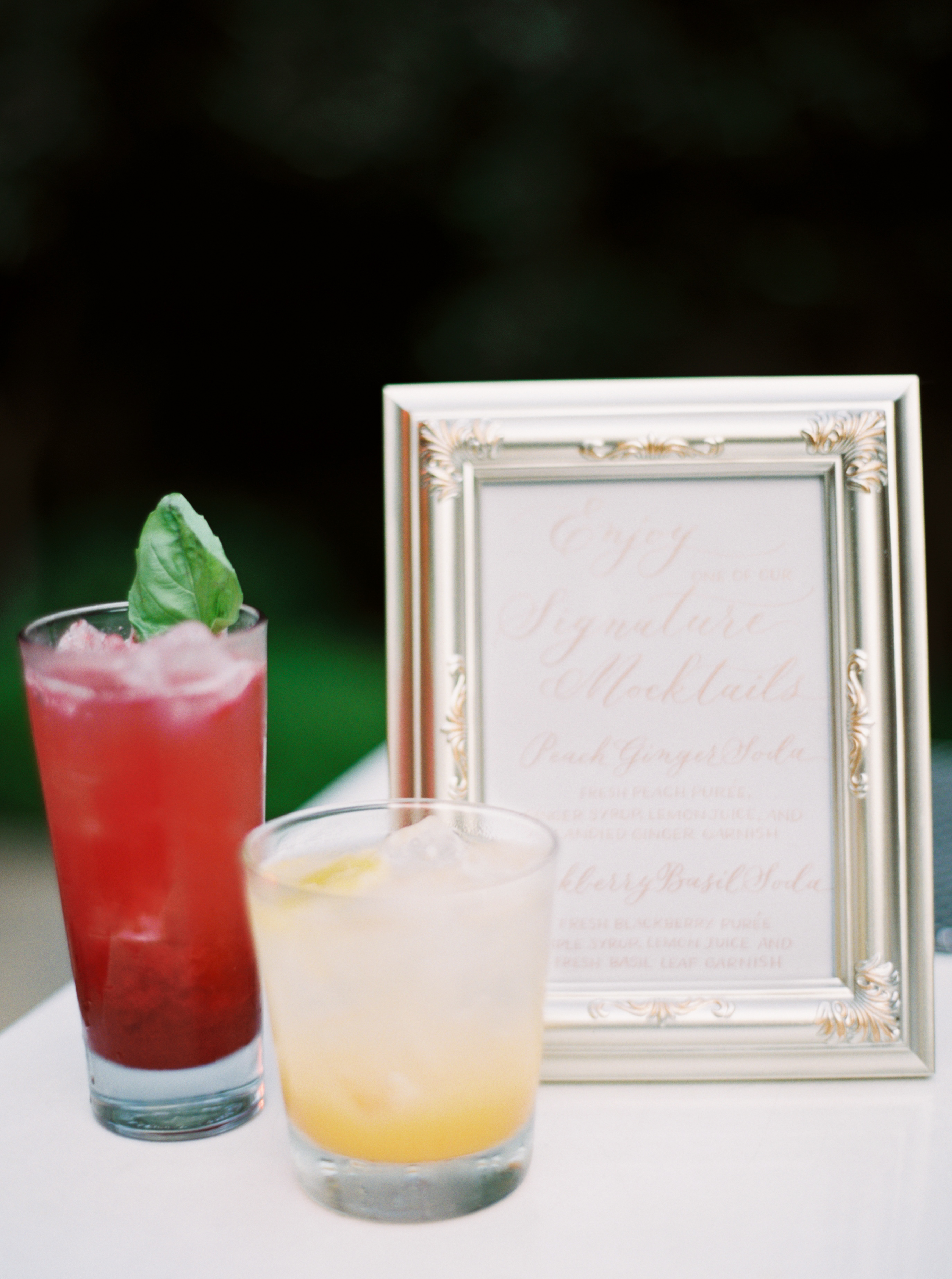 two signature mocktails