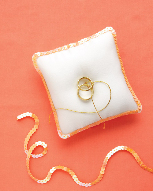 Sequined Ring Pillow