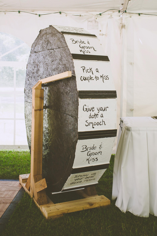 wedding games spinning wheel