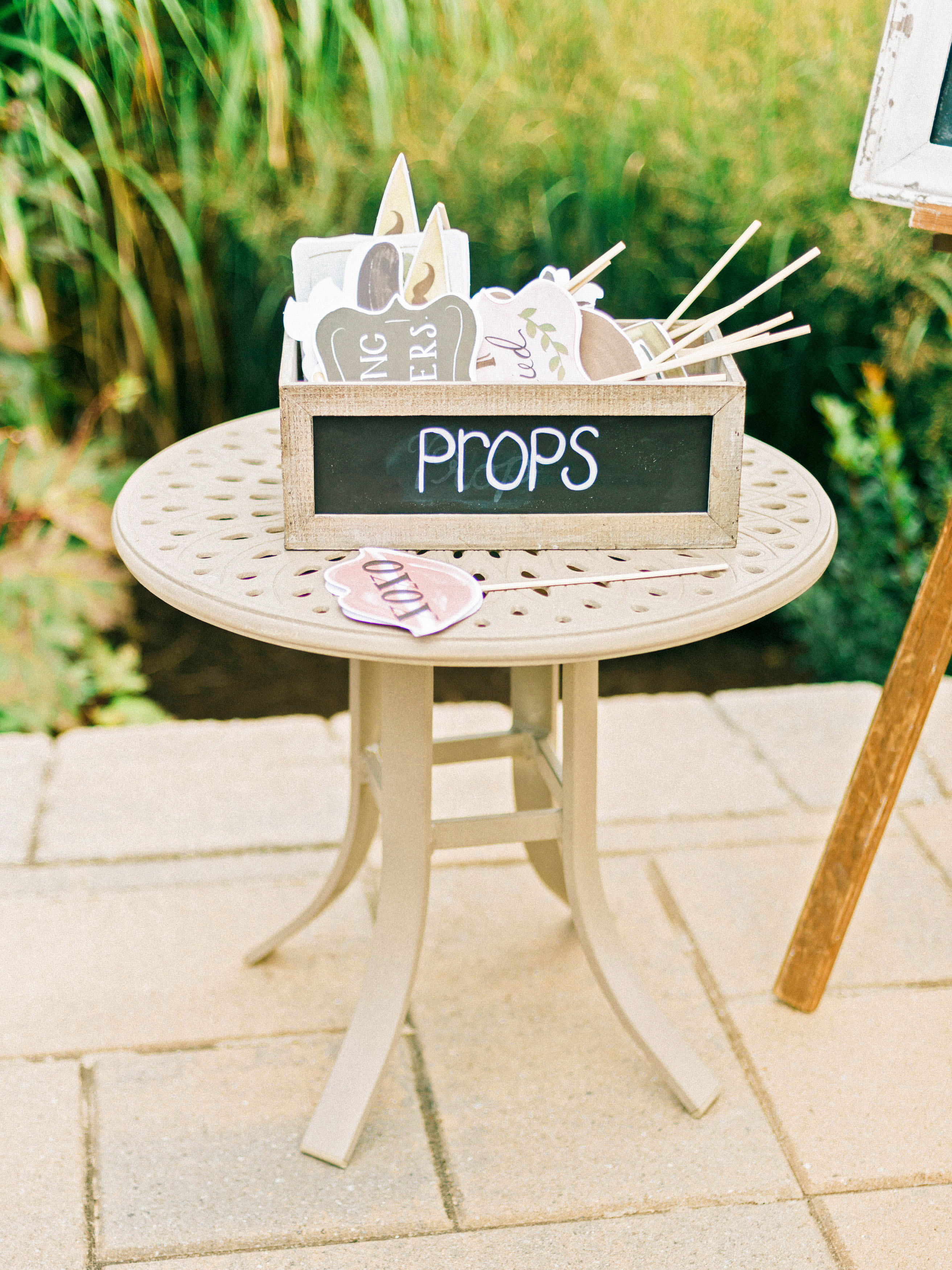 wedding games photo booth props