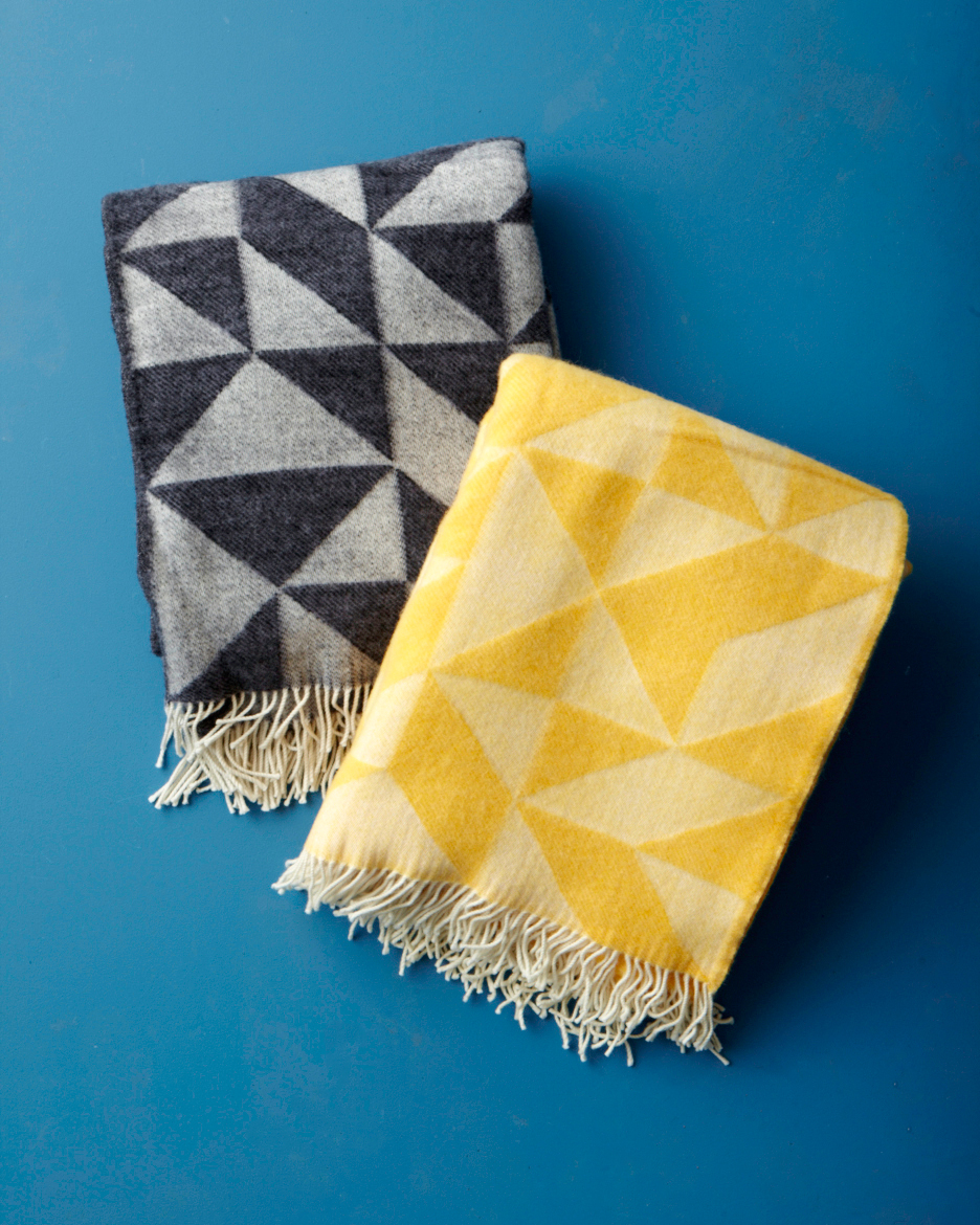 Tina Ratzer  Twist a Twill  Wool Blanket