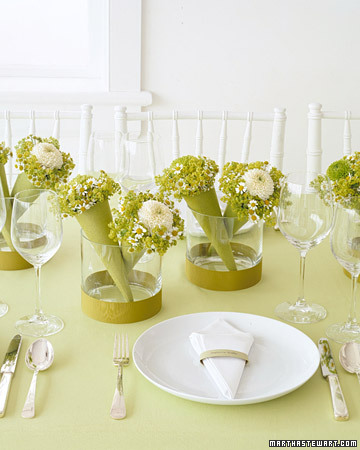 Floral Favor Centerpieces