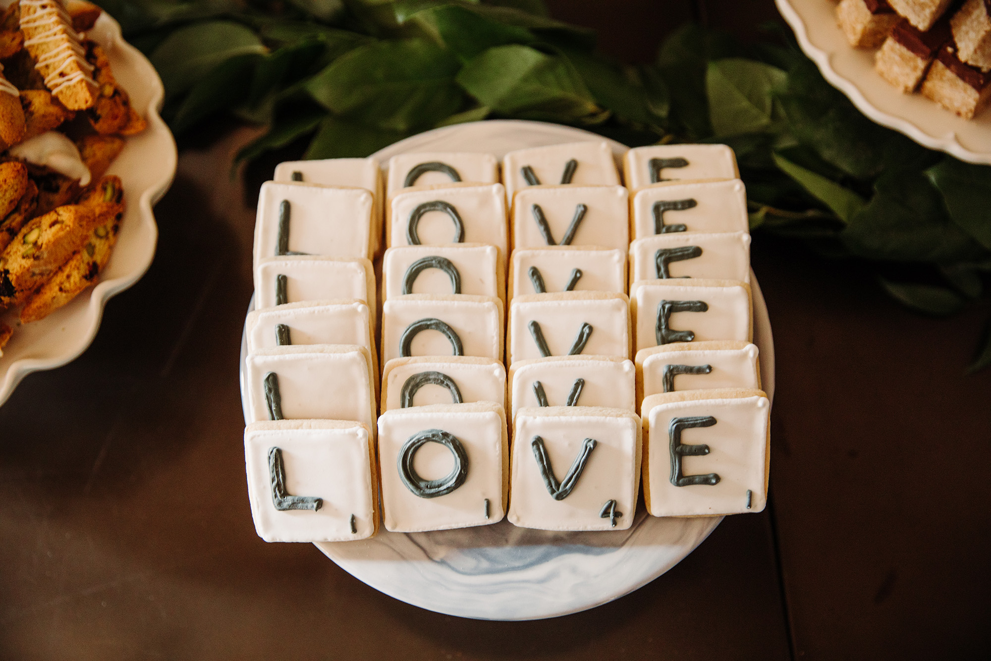 scrabble tile cookies