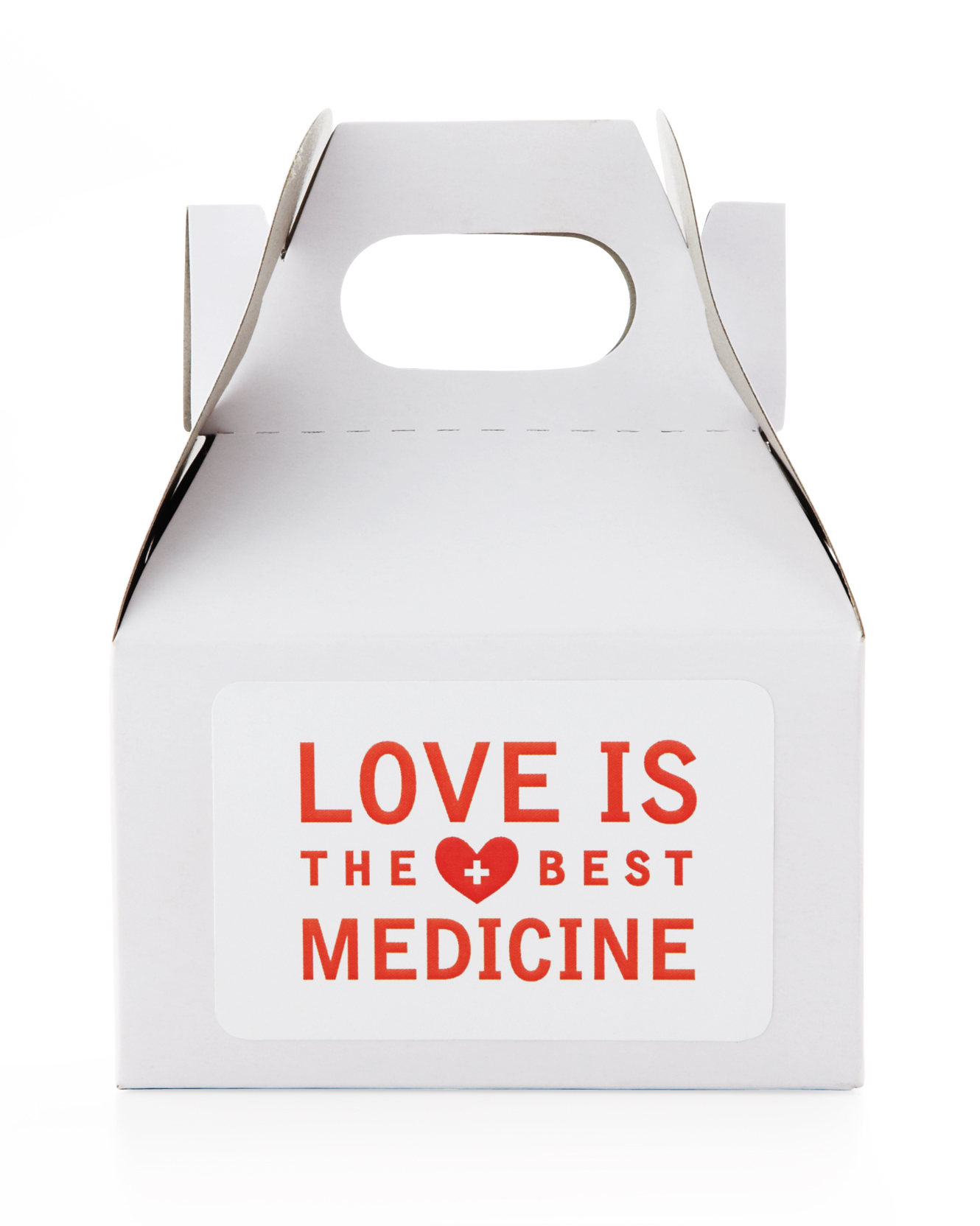Love Is the Best Medicine  Favor Box Sticker