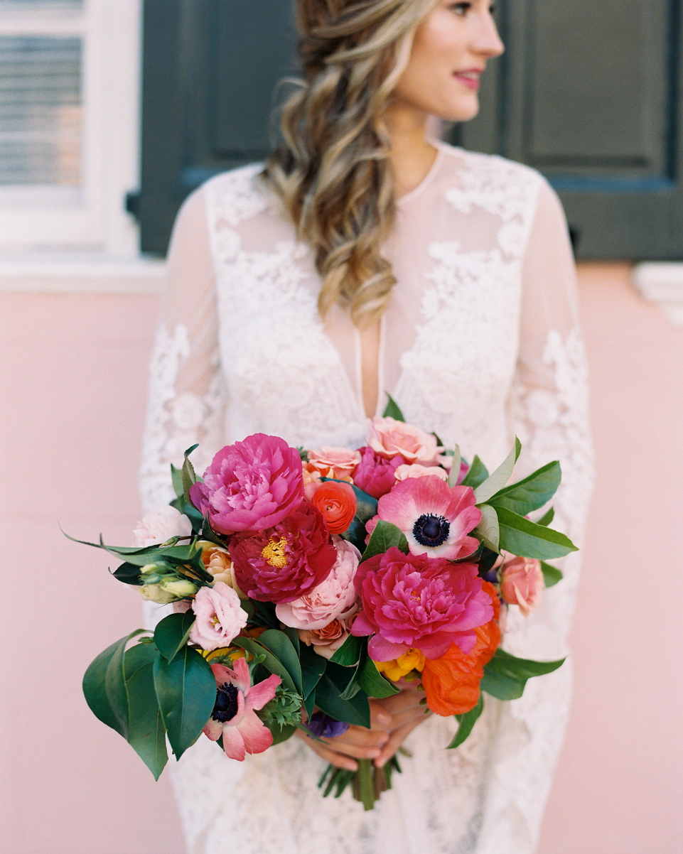 pink wedding ideas lisa ziesing for abby jiu photography