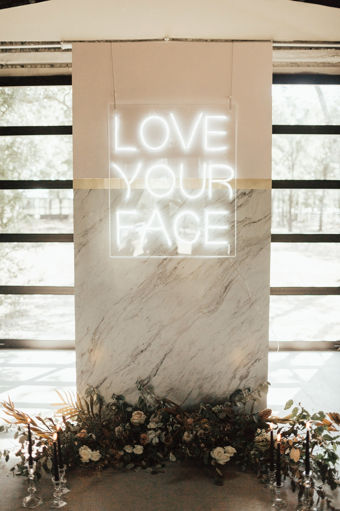 love your face glowing sign