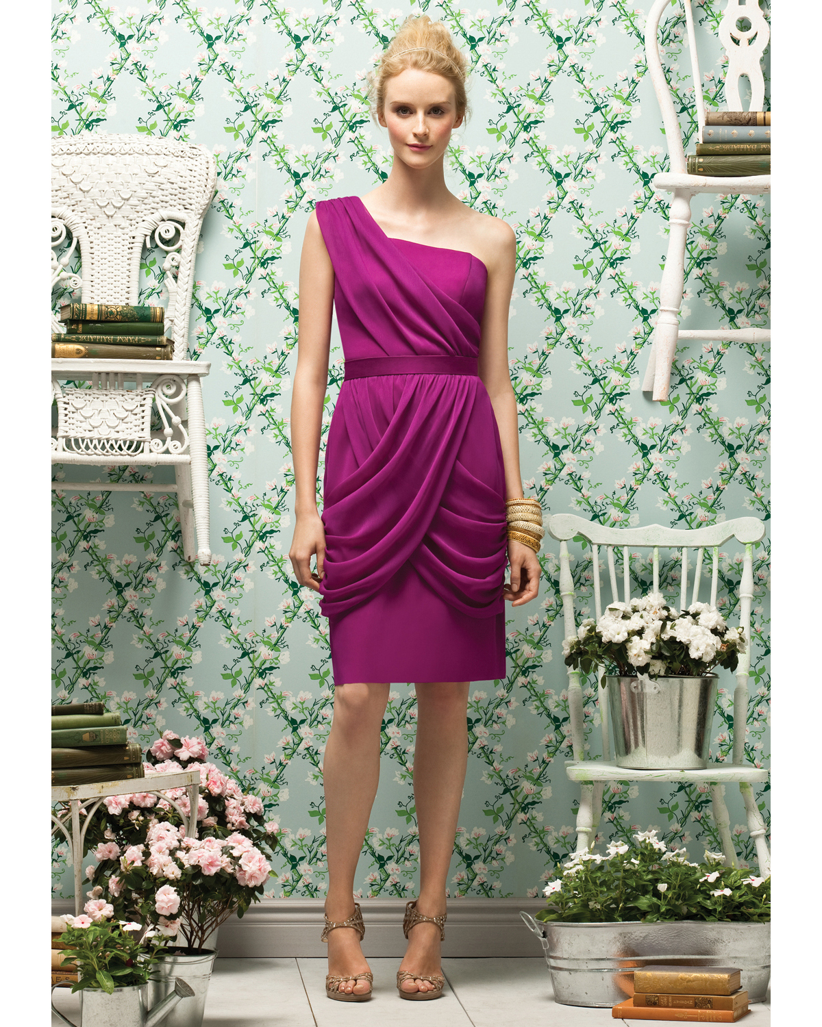Short Fuchsia Bridesmaid Dress