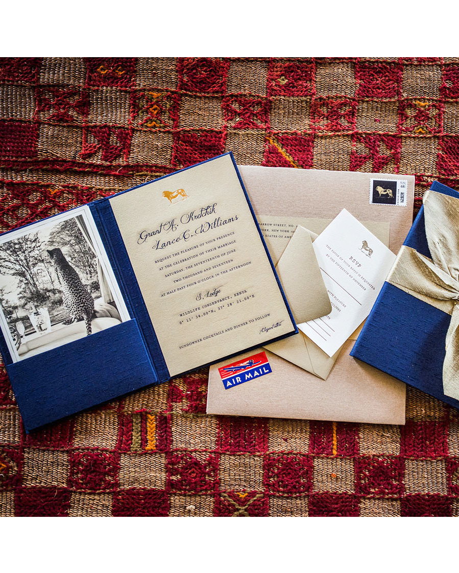 grant lance wedding africa stationery