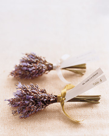 Lavender Seating Cards