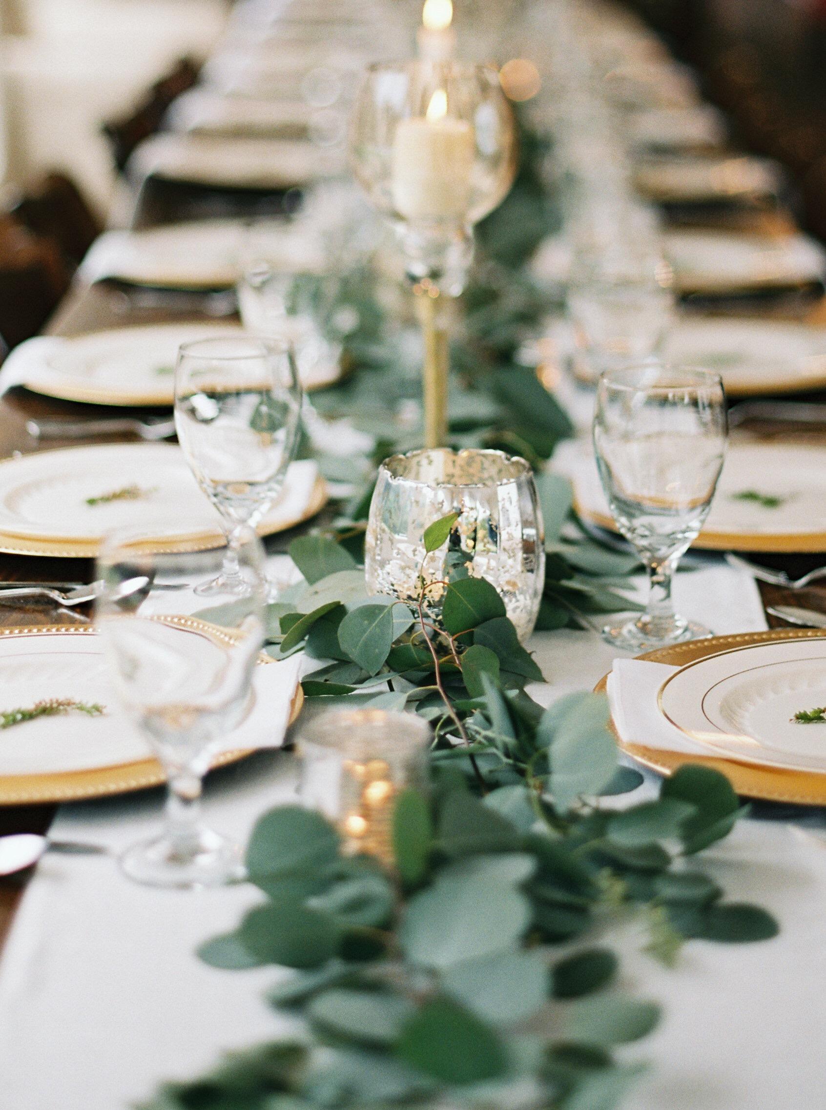 elegant reception table