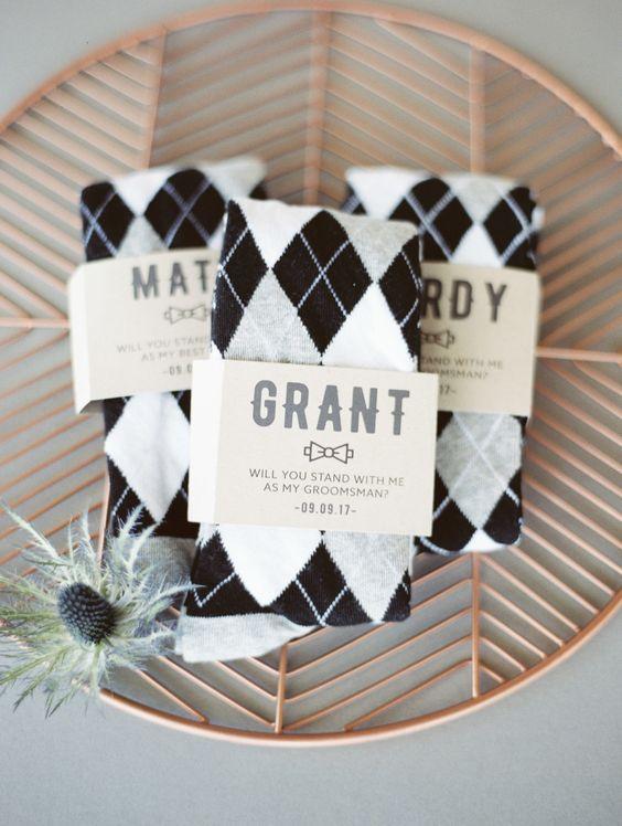 groomsmen sock bridal party gifts