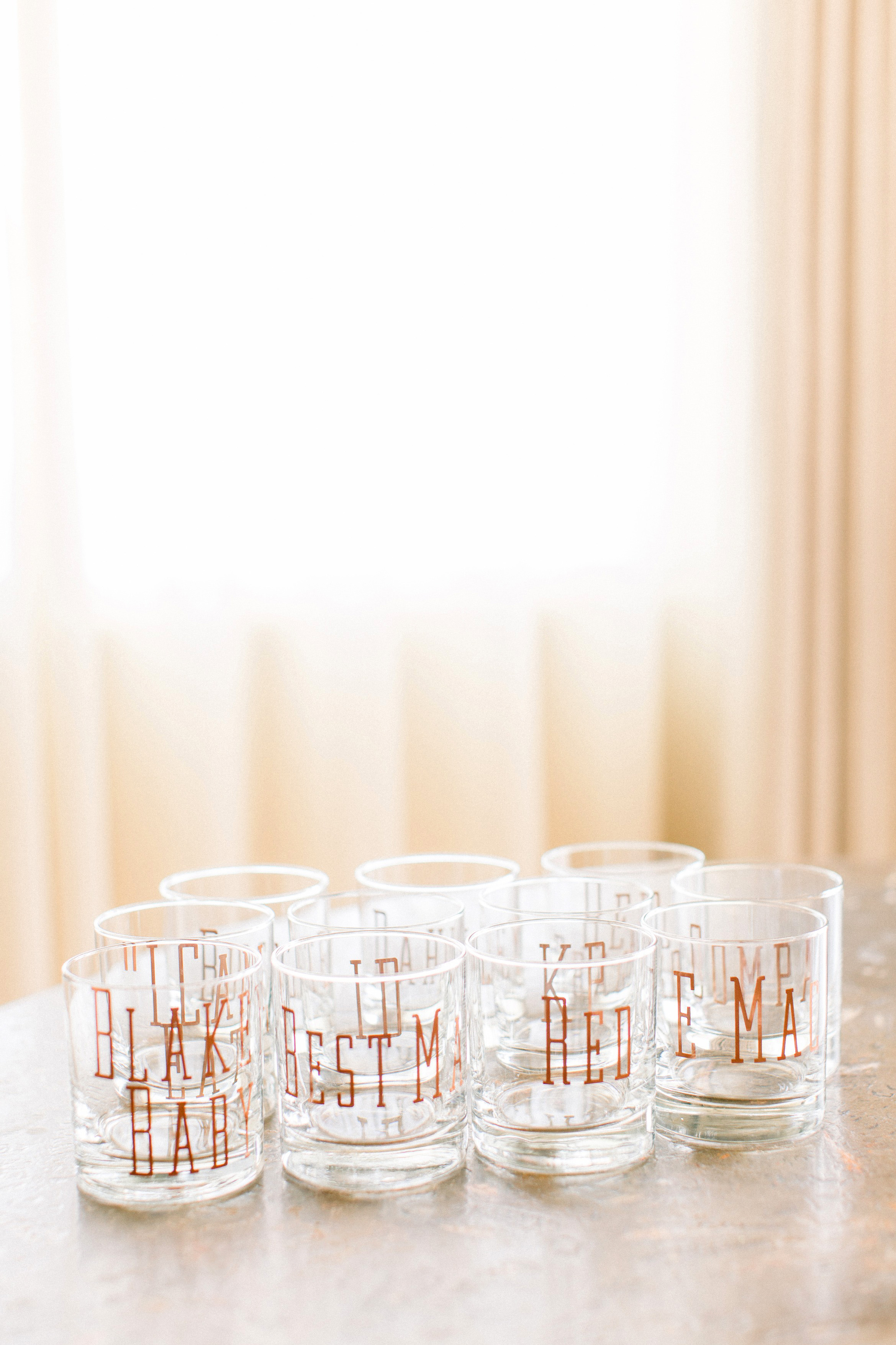 kourtney justin wedding mexico glasses tumblers