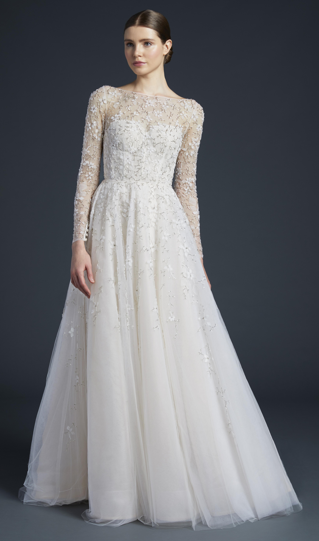 anne barge sheer long sleeves wedding dress fall 2019