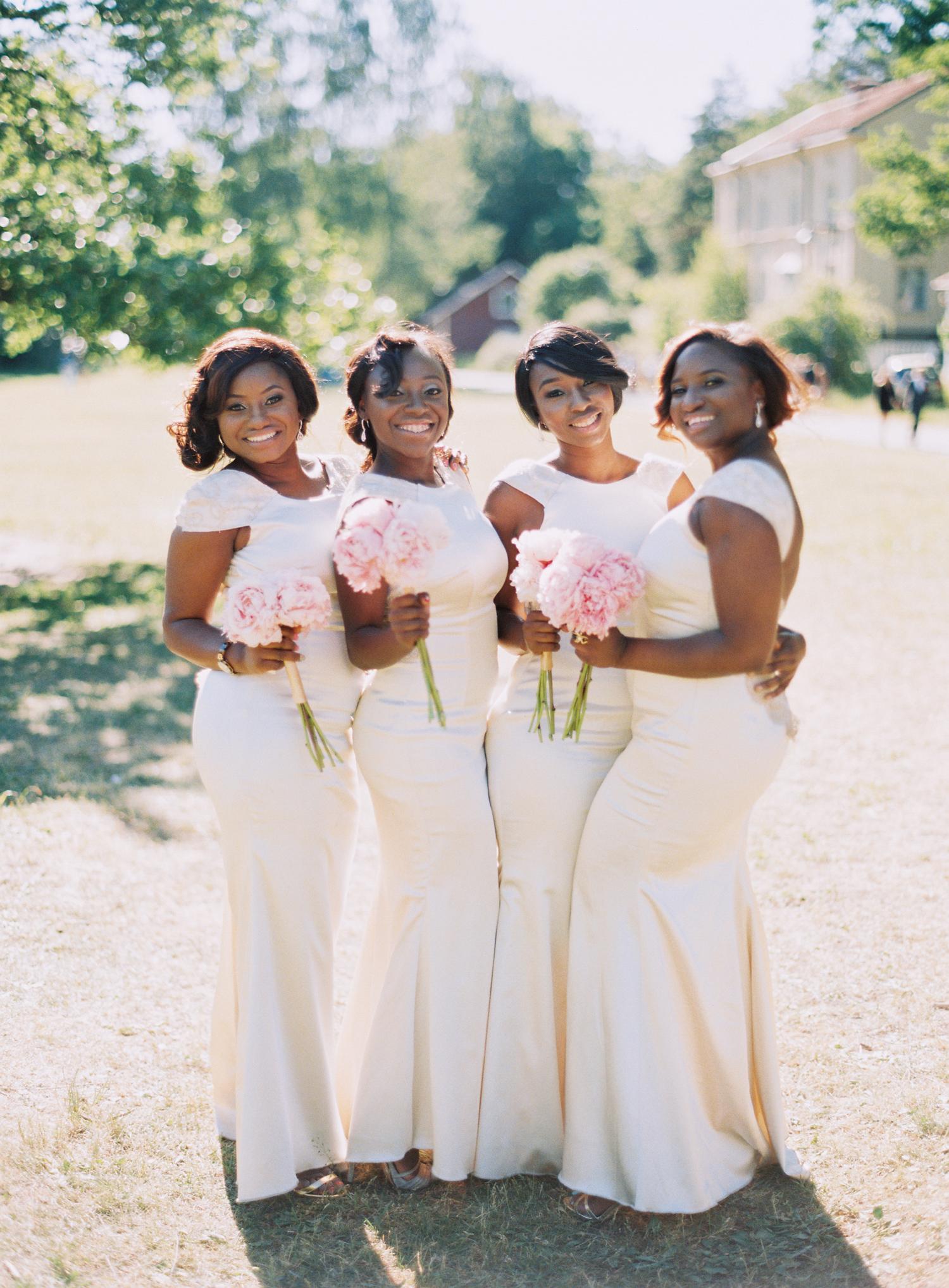 white bridesmaid dresses 2 brides photography