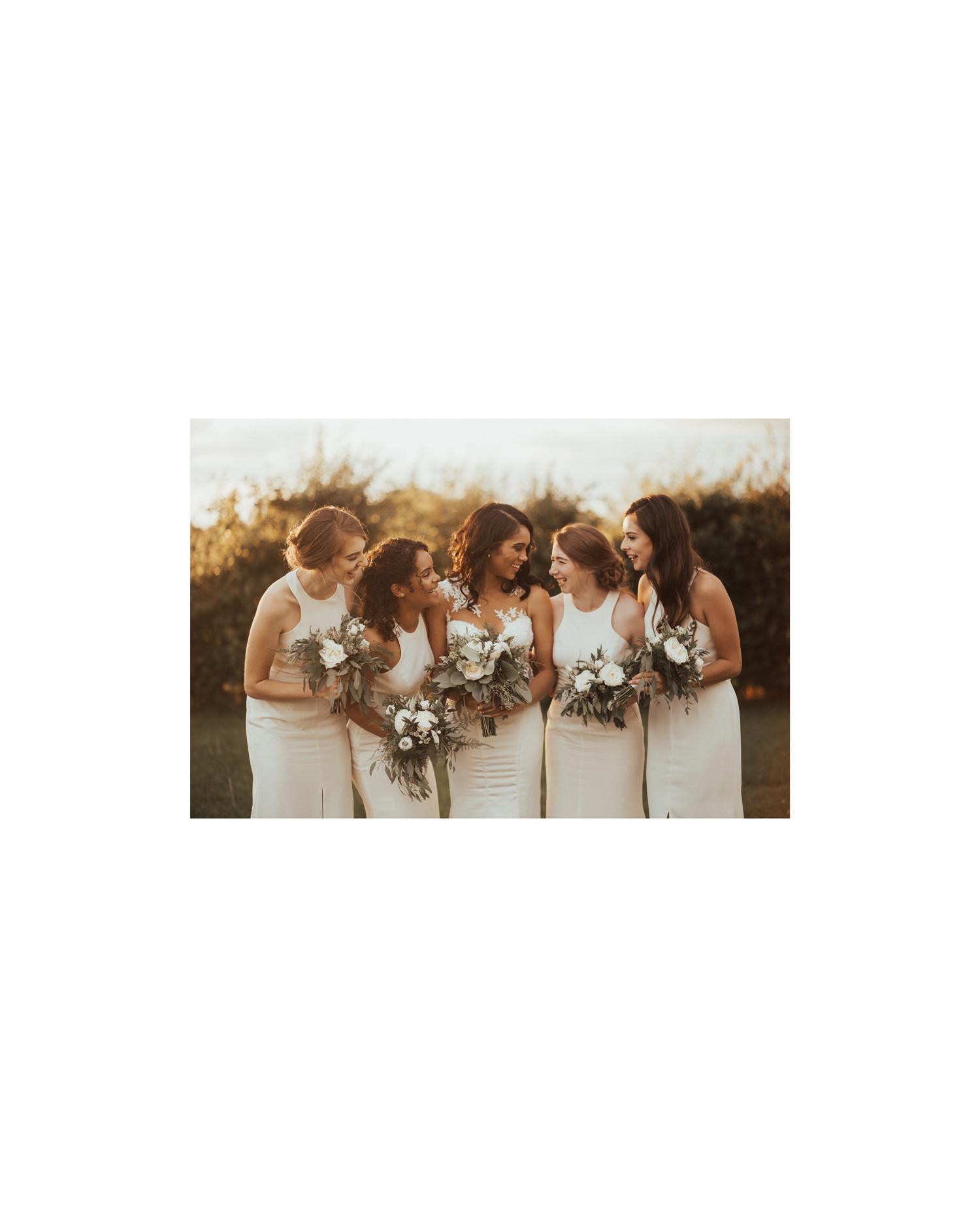 white bridesmaid dresses nataly j photography