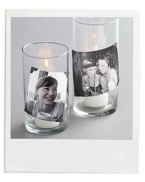 Polaroid Photo Candles