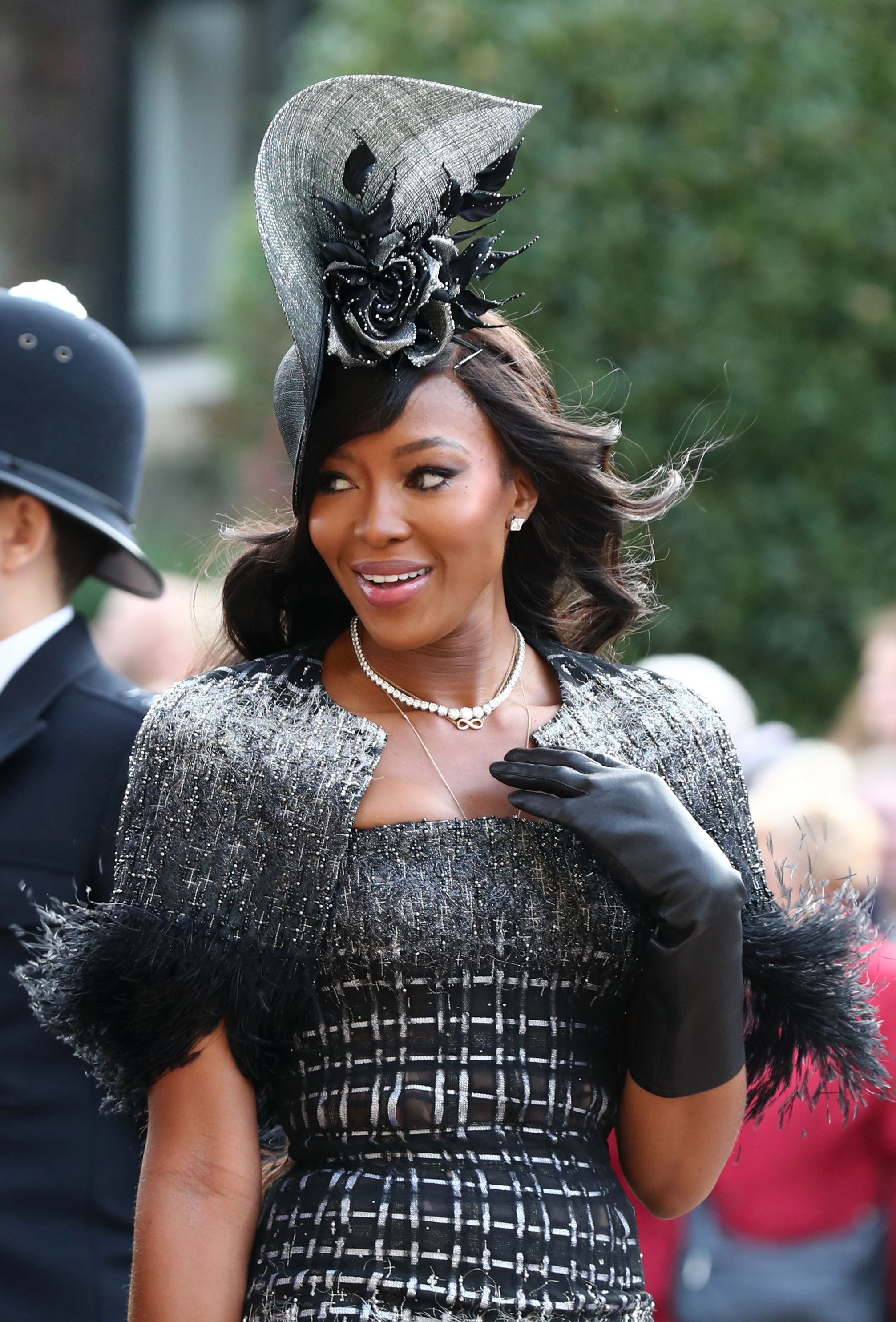 Naomi Campbell at Princess Eugenie's 2018 royal wedding