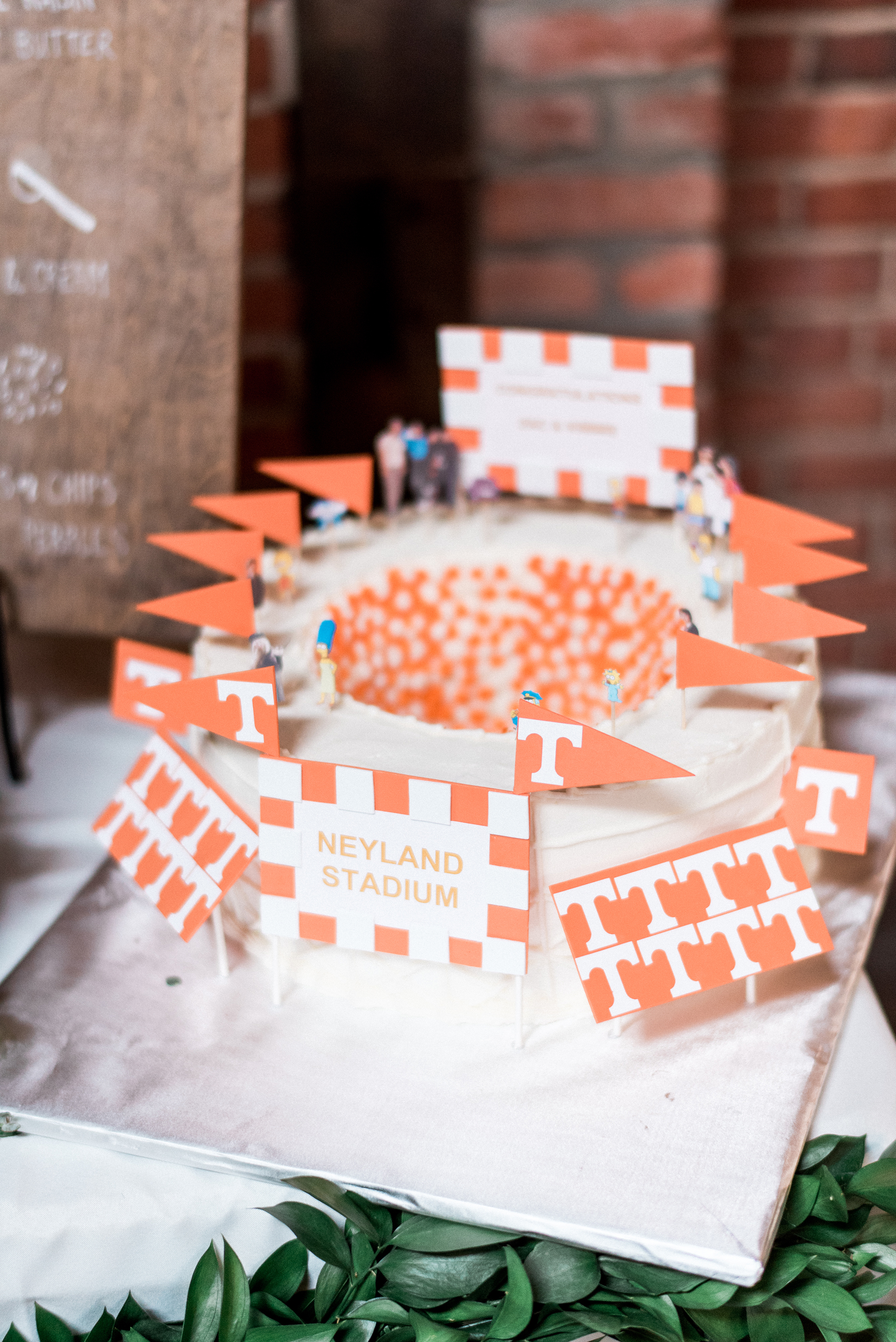 stadium shaped grooms cake