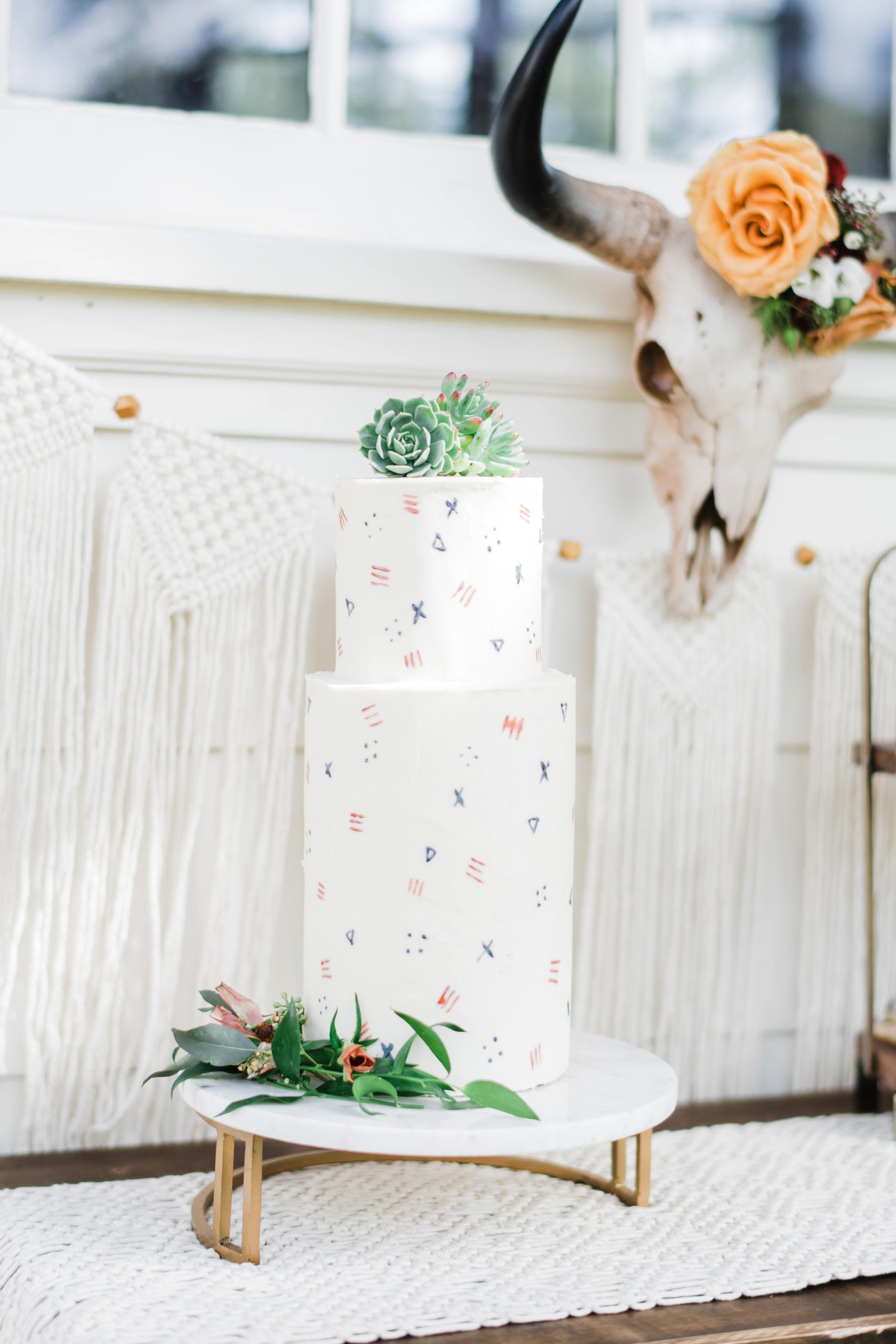 succulent wedding cake decor