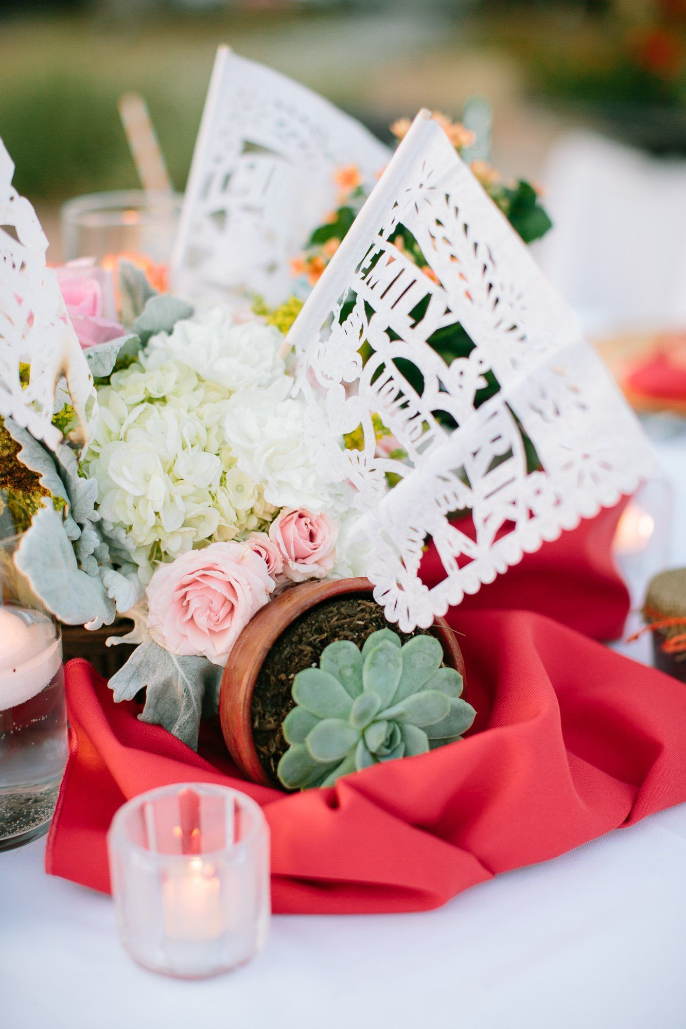 Potted Centerpieces