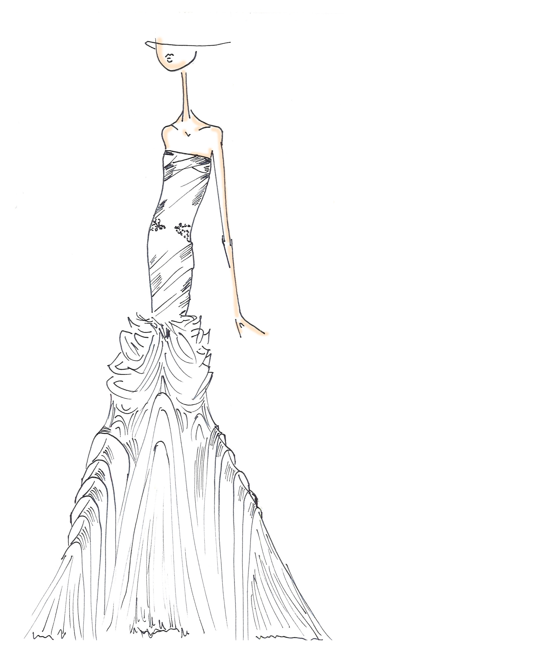 Reception Dress: The Sketch