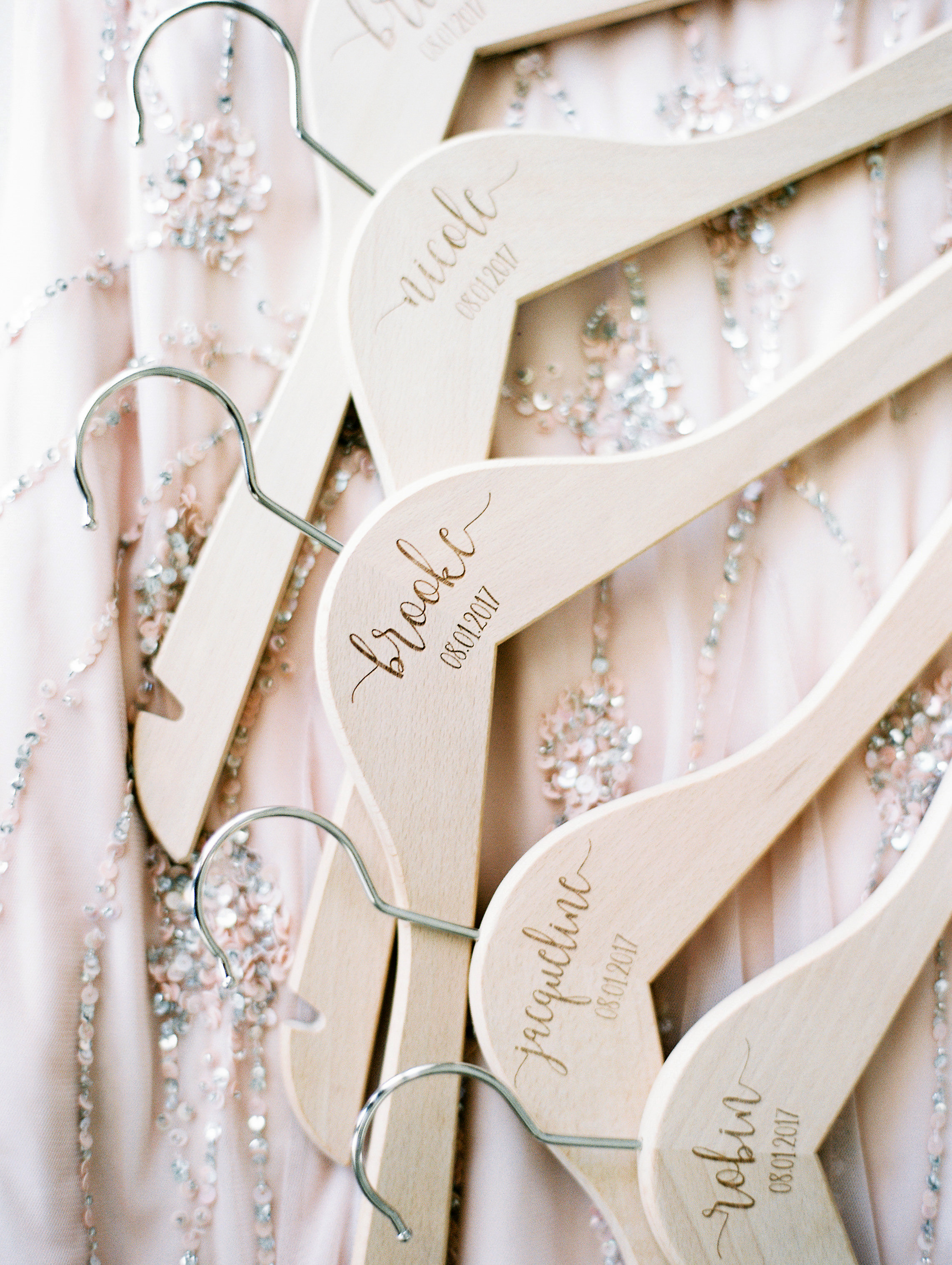 wedding personalized name hangers
