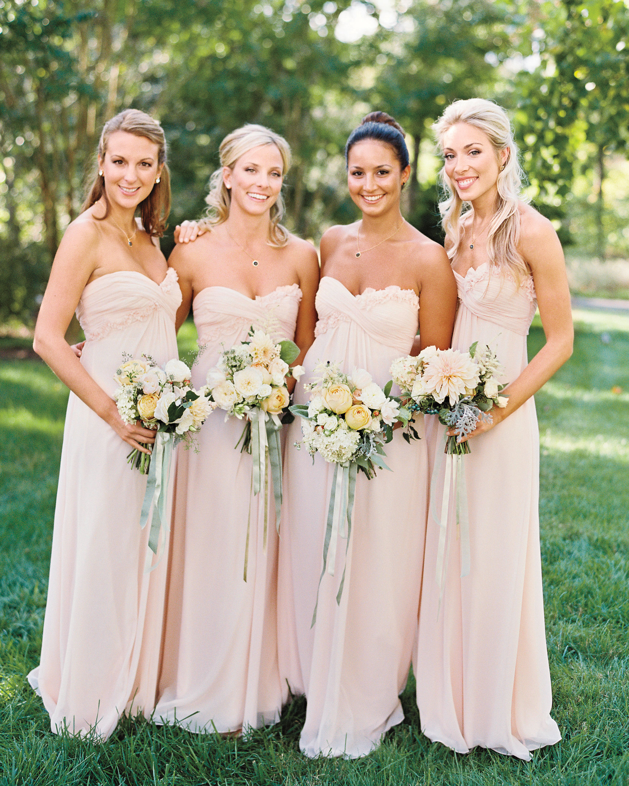 Millennial Pink Bridesmaid Dresses
