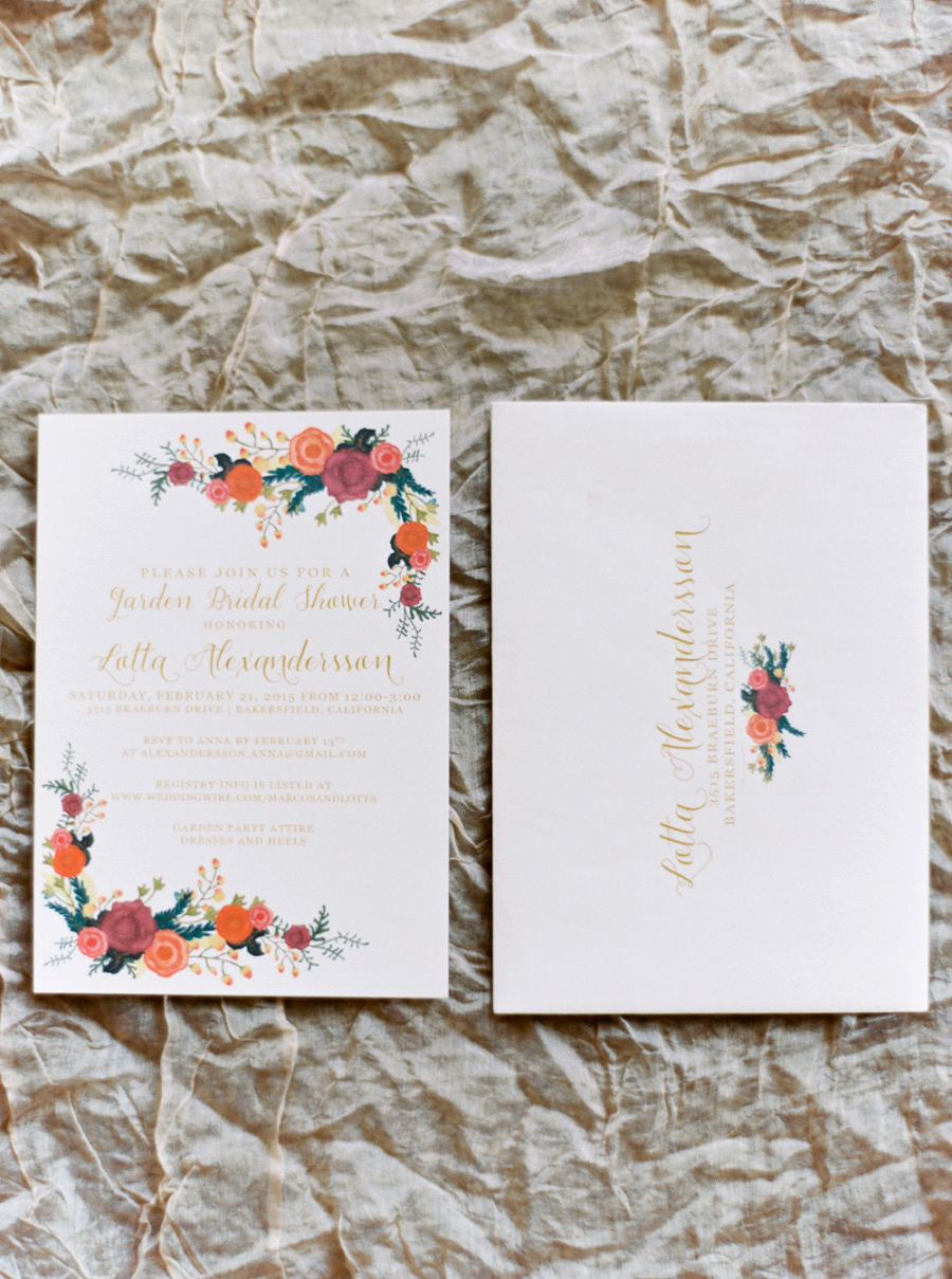 bridal shower invitations mariel hannah