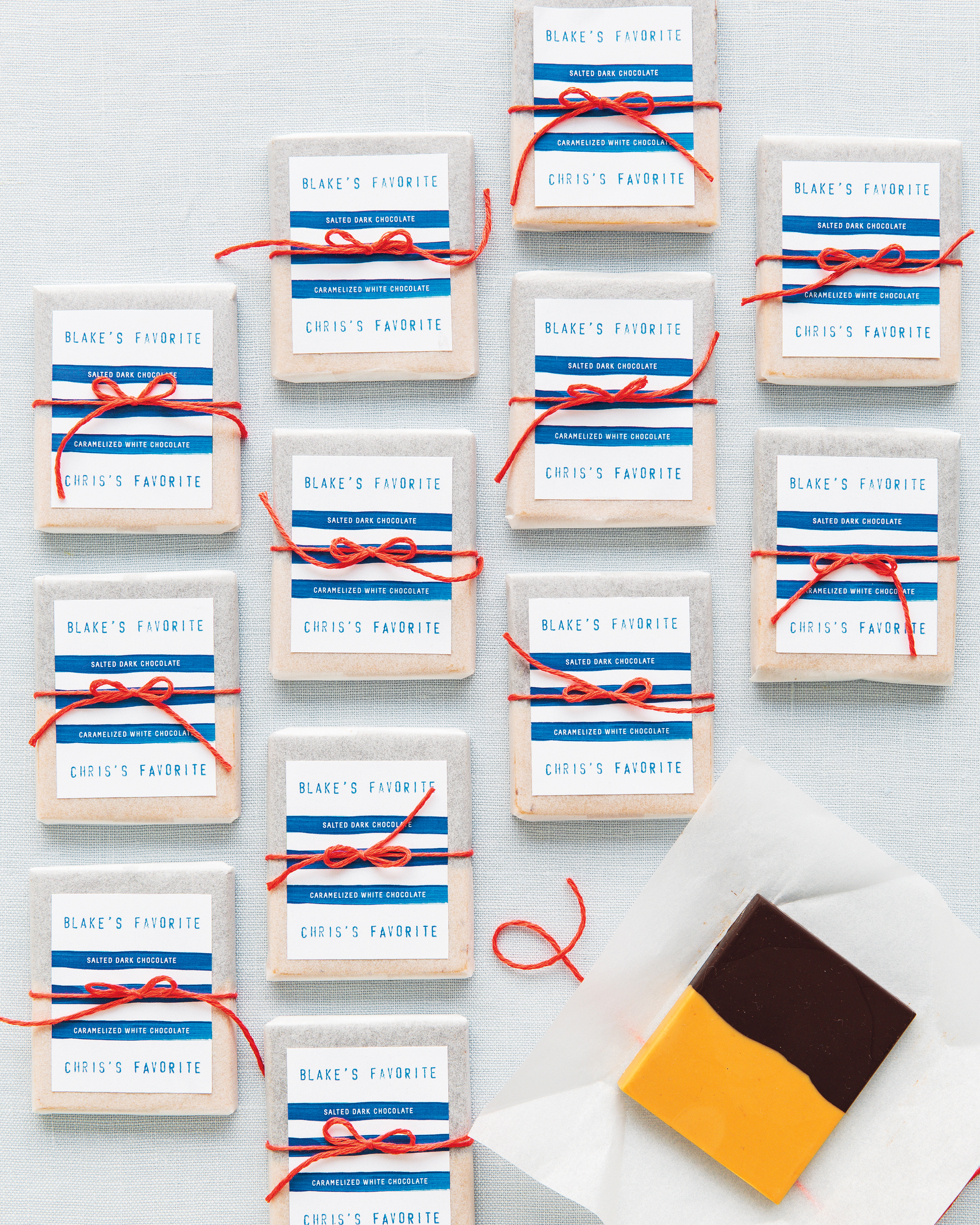 His & Hers Chocolate Wedding Favors