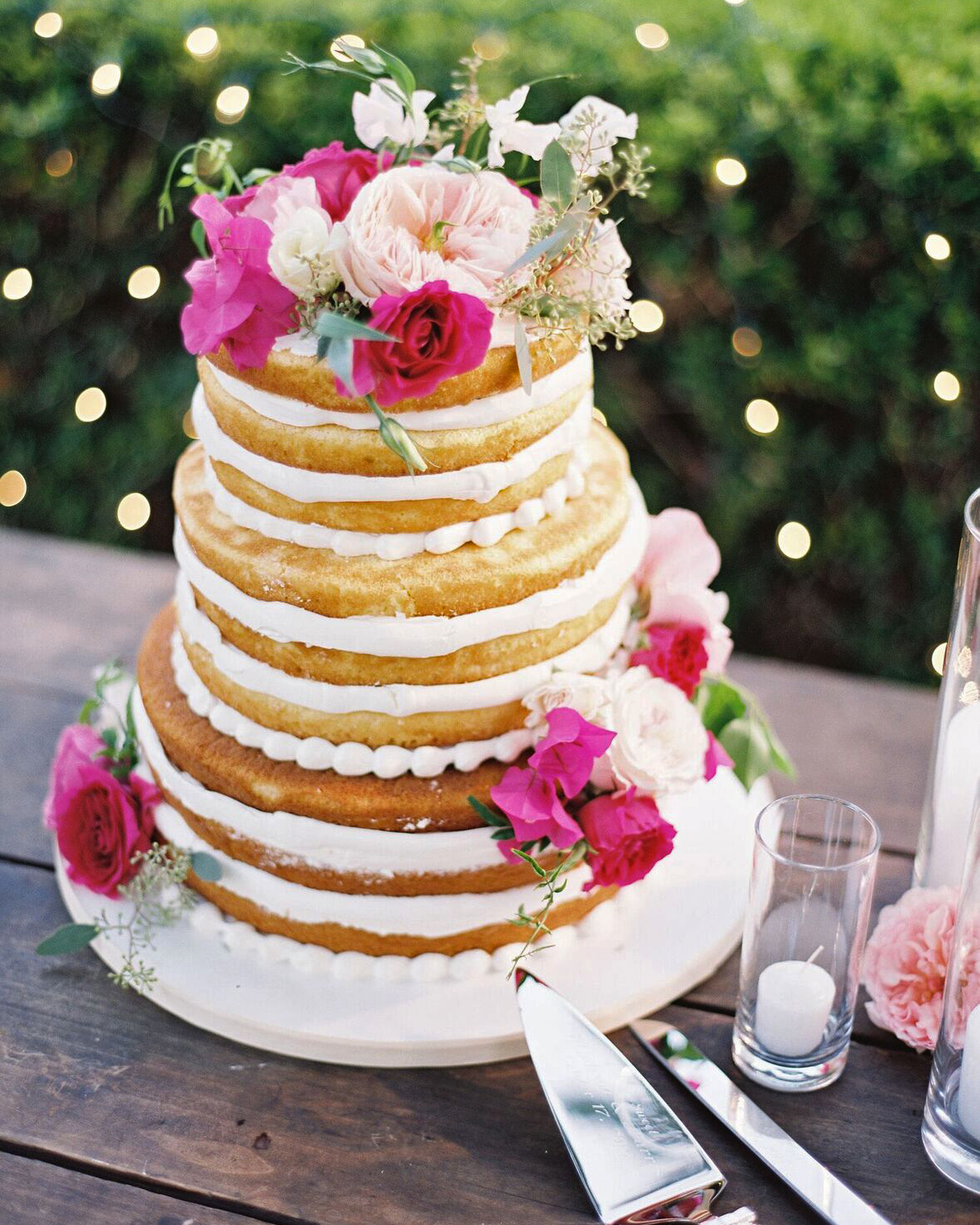 Pretty Naked Wedding Cake