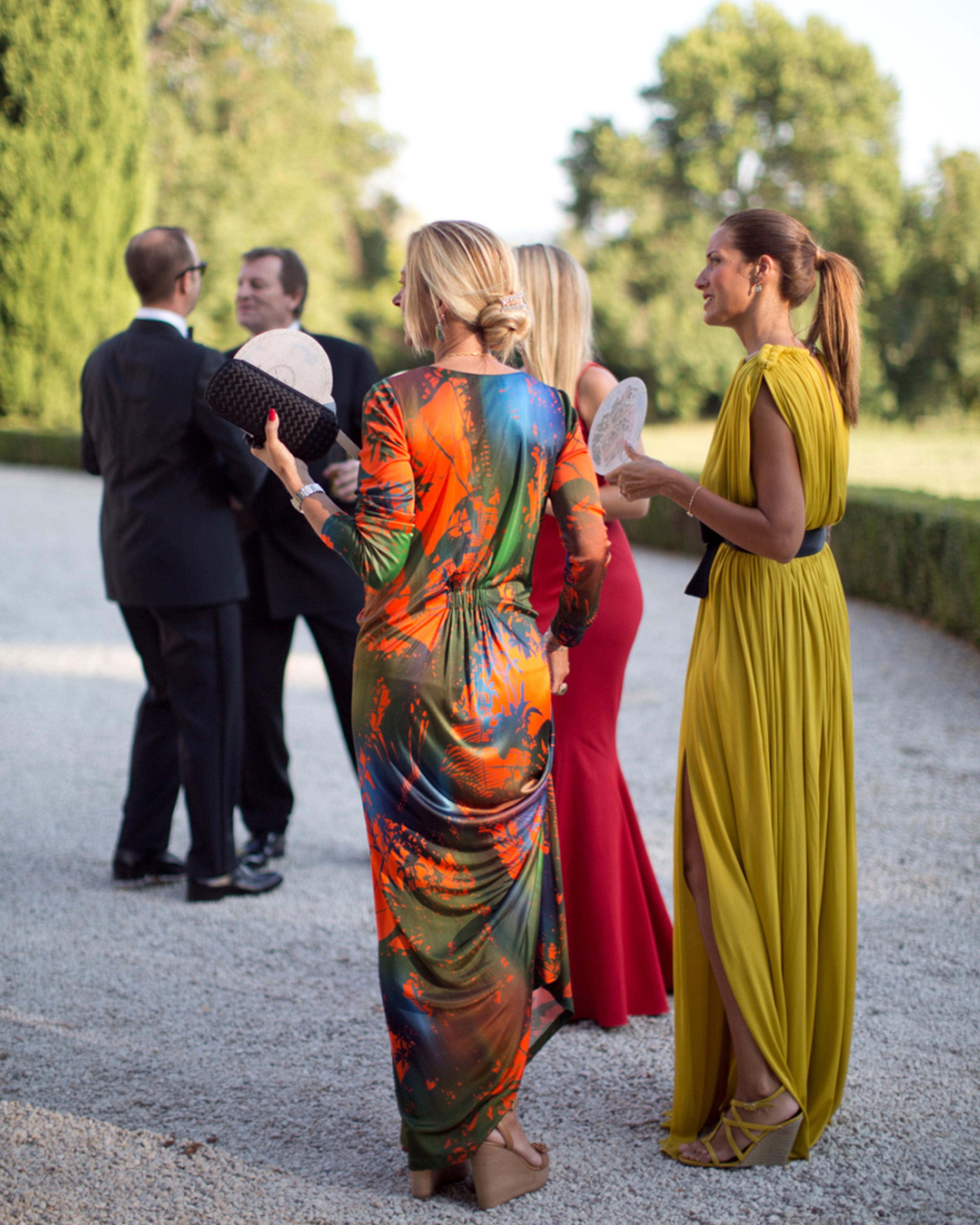 summer wedding guests black tie multi color