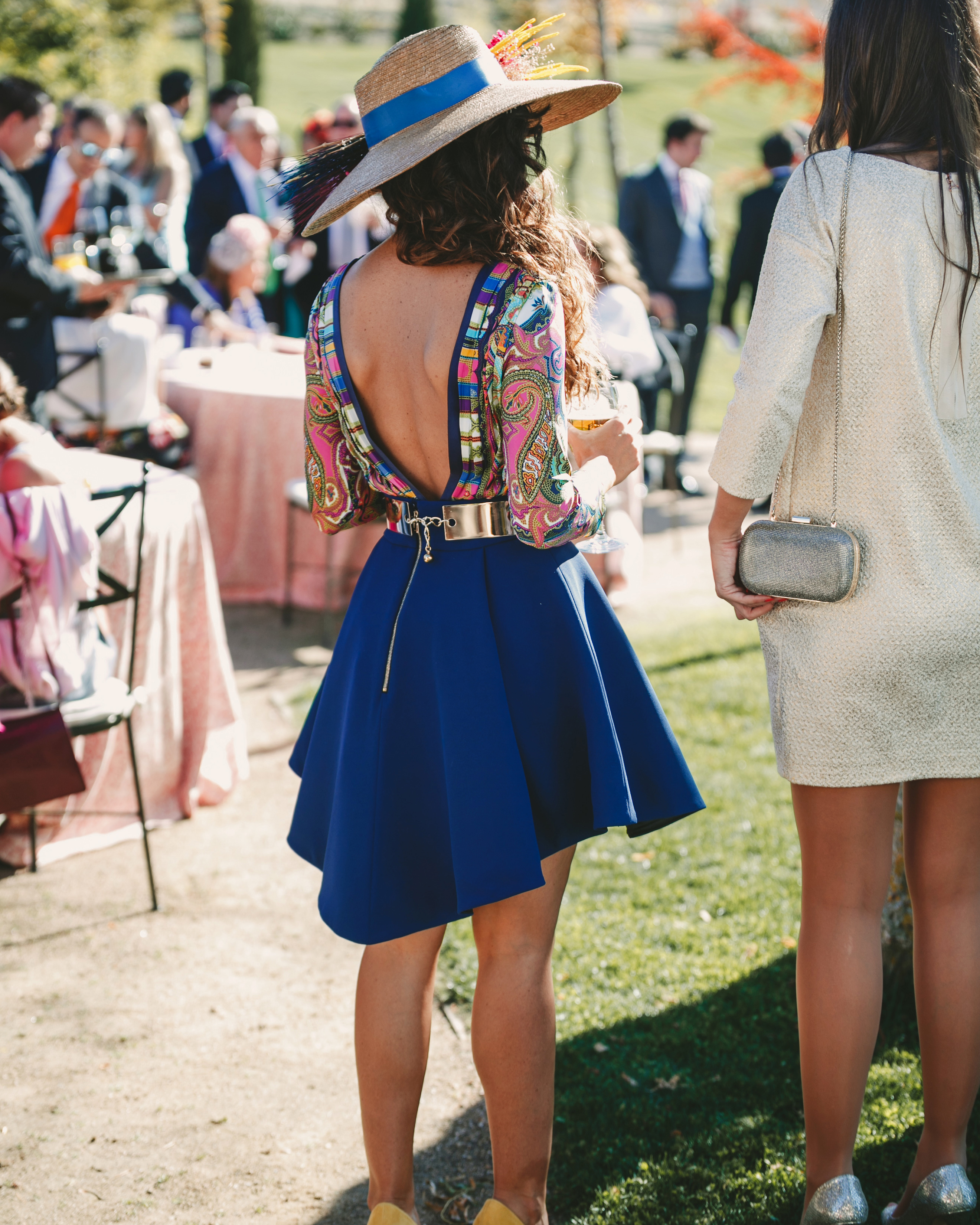 summer wedding guests fashionista metallic