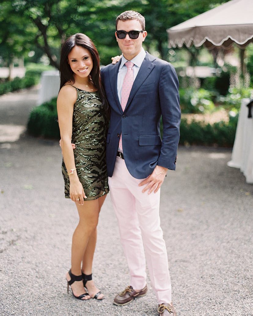 summer wedding guests metallic dress pink ensemble