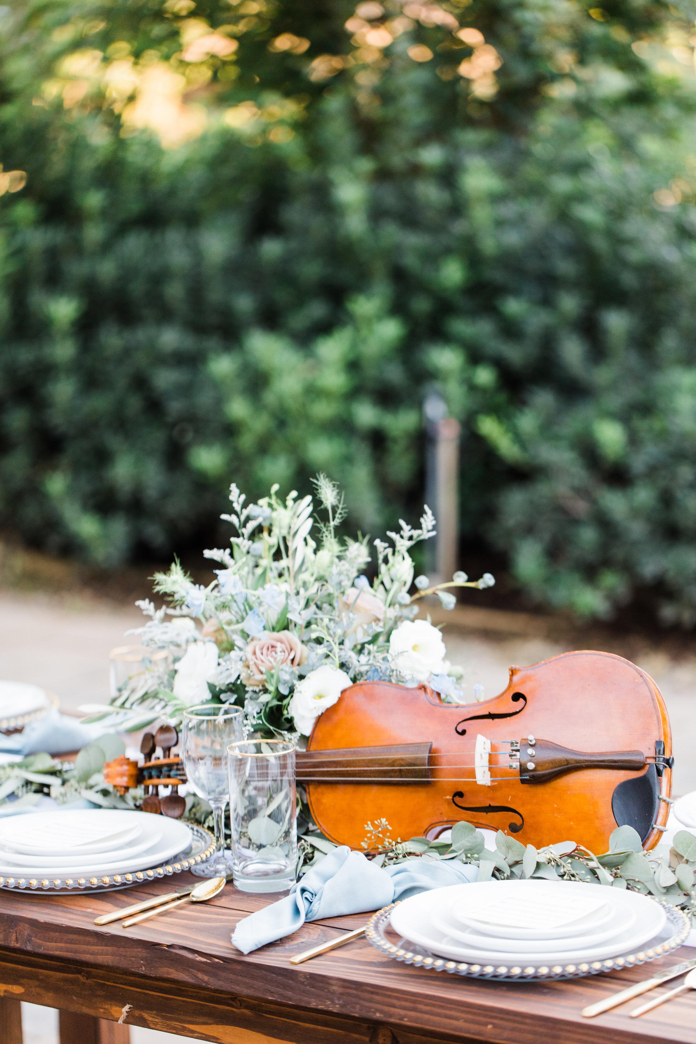 violin centerpiece