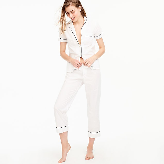 be my bridesmaid woman in white pajama set