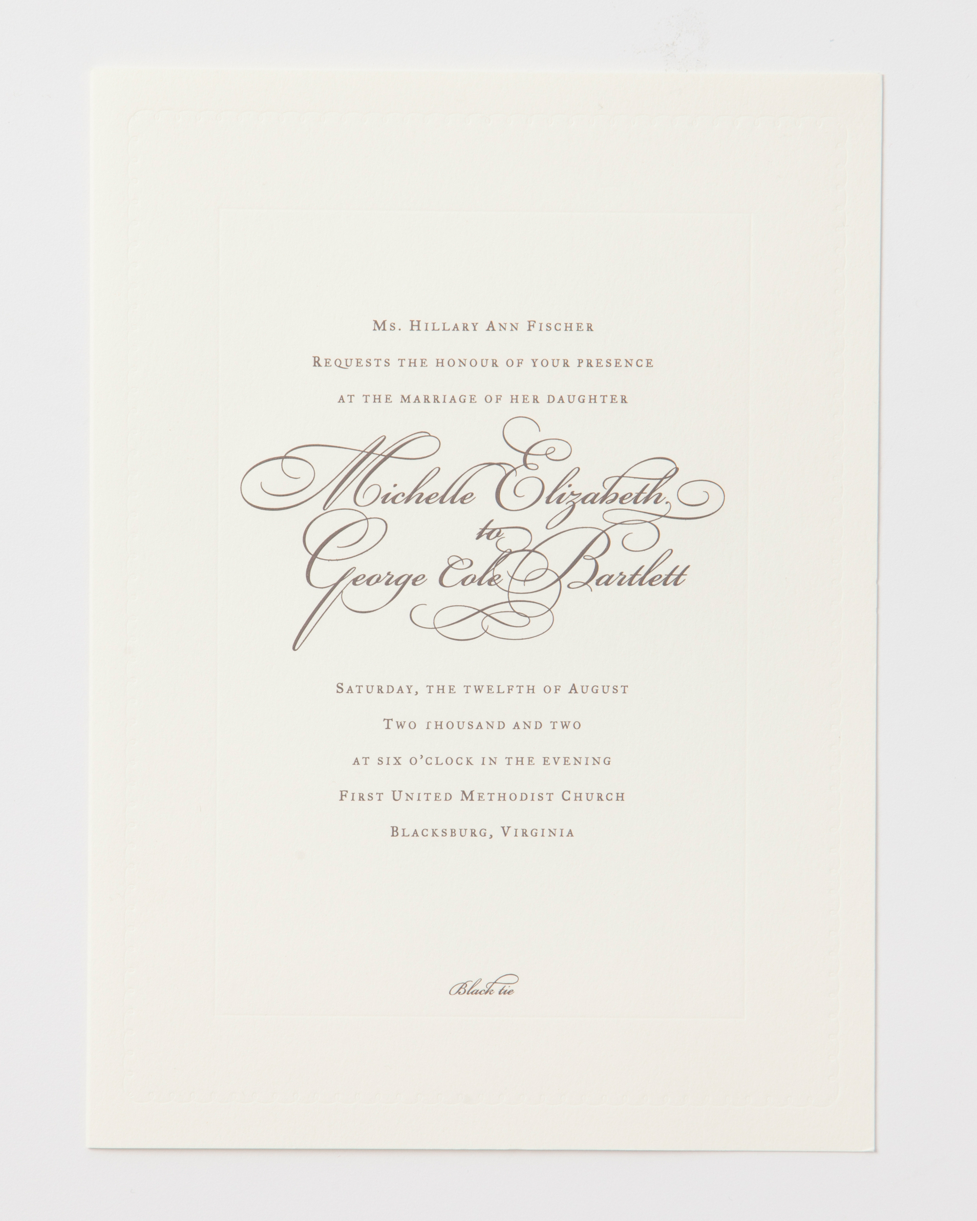 Wording Your Wedding Invitations