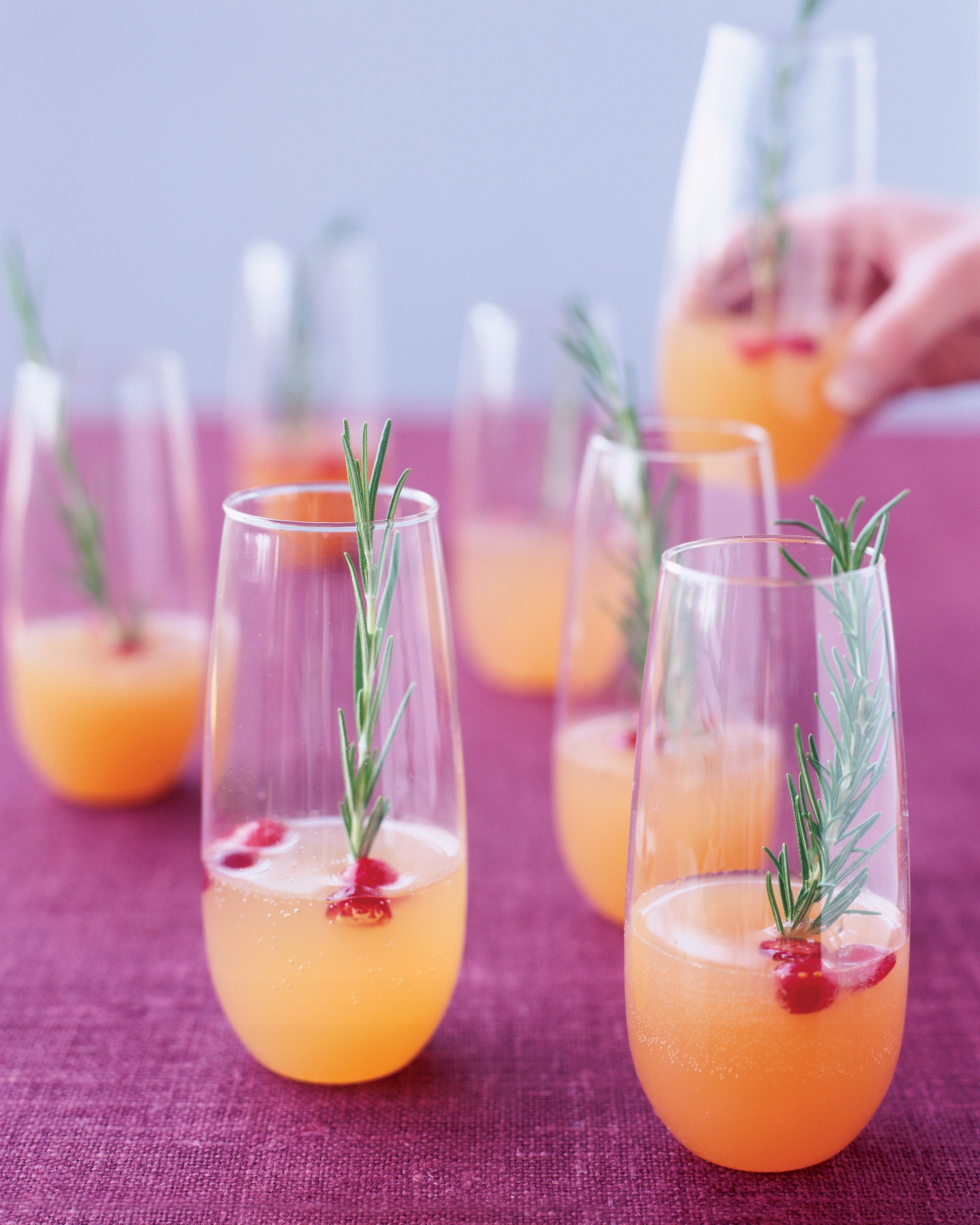 Sparkling Pear and Cranberry Cocktail
