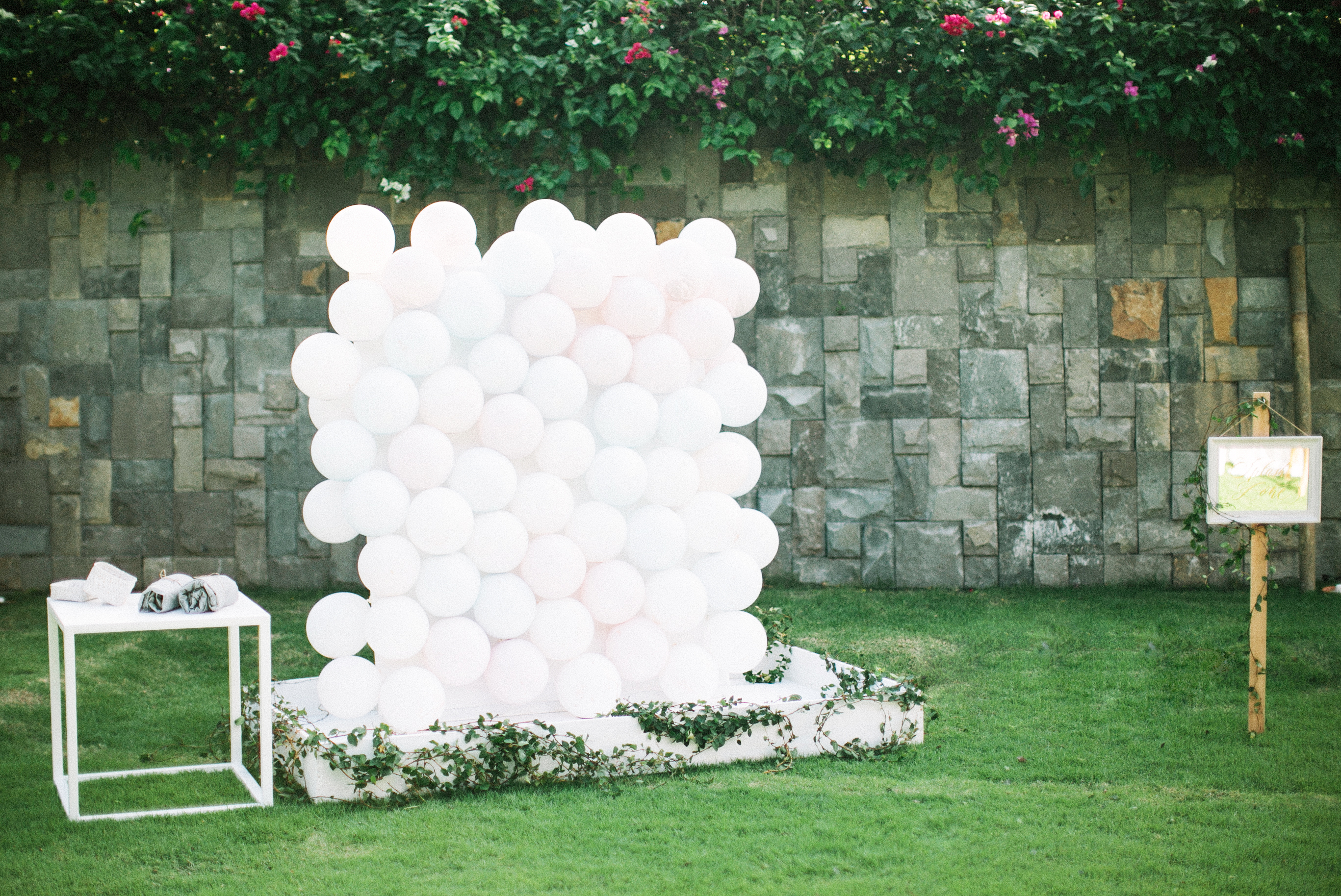 balloon paint wedding guest book
