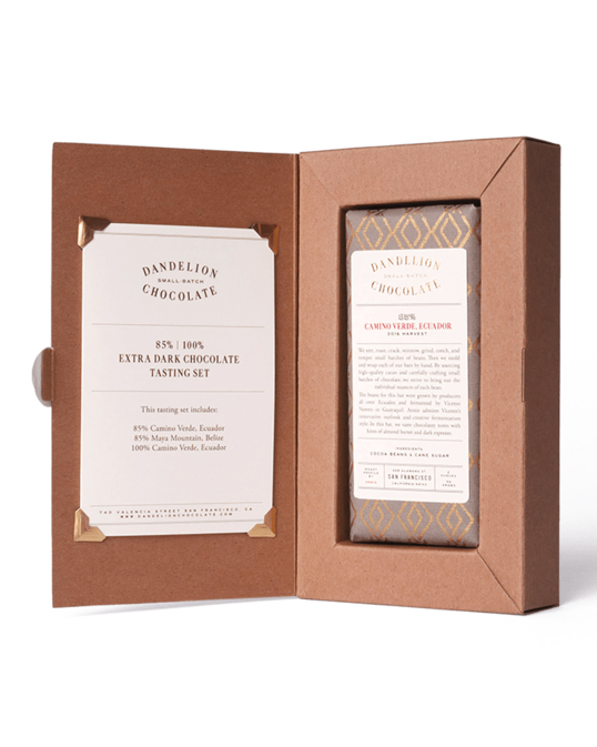dandelion chocolate tasting set valentine's day gift for him