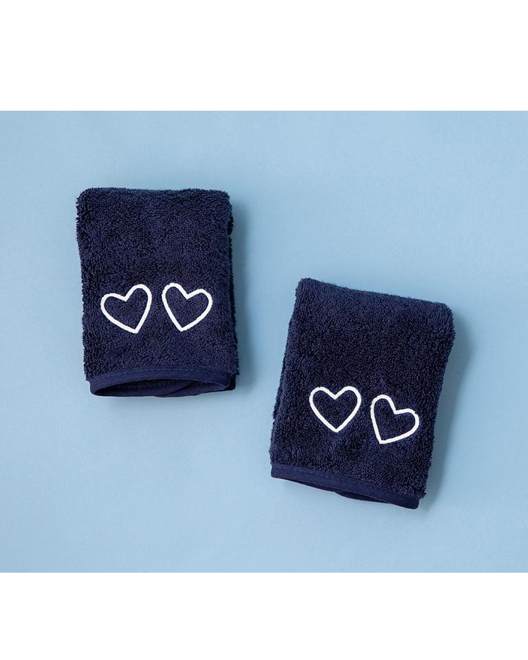navy blue Makeup Towels