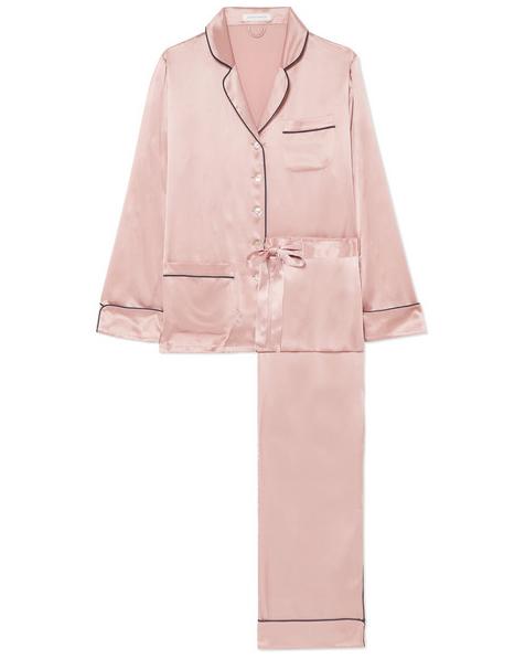 pink Silk Pajama Set