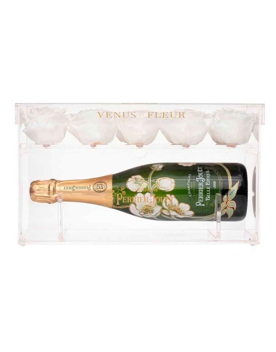 Champagne Keepsake and Eternity Rose Gift Set