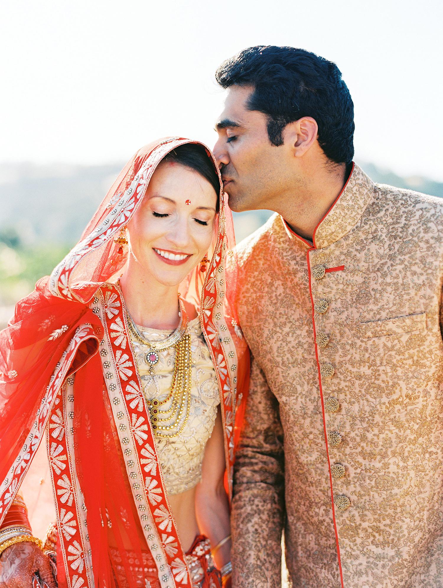 caitlin amit indian wedding bride and groom