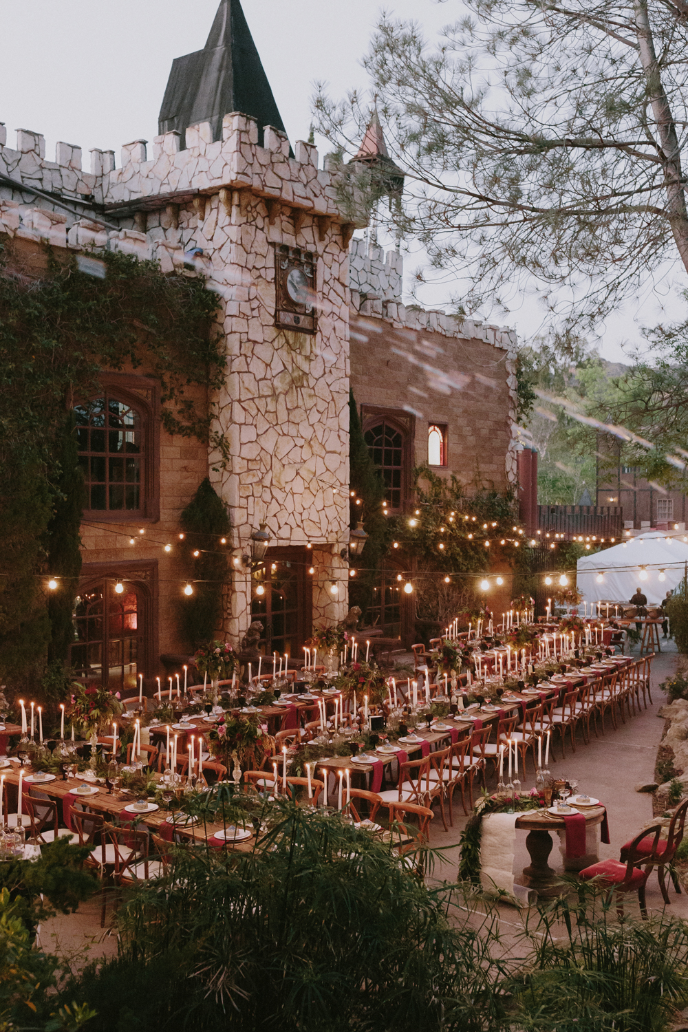 Hogwarts inspired wedding venue and decor